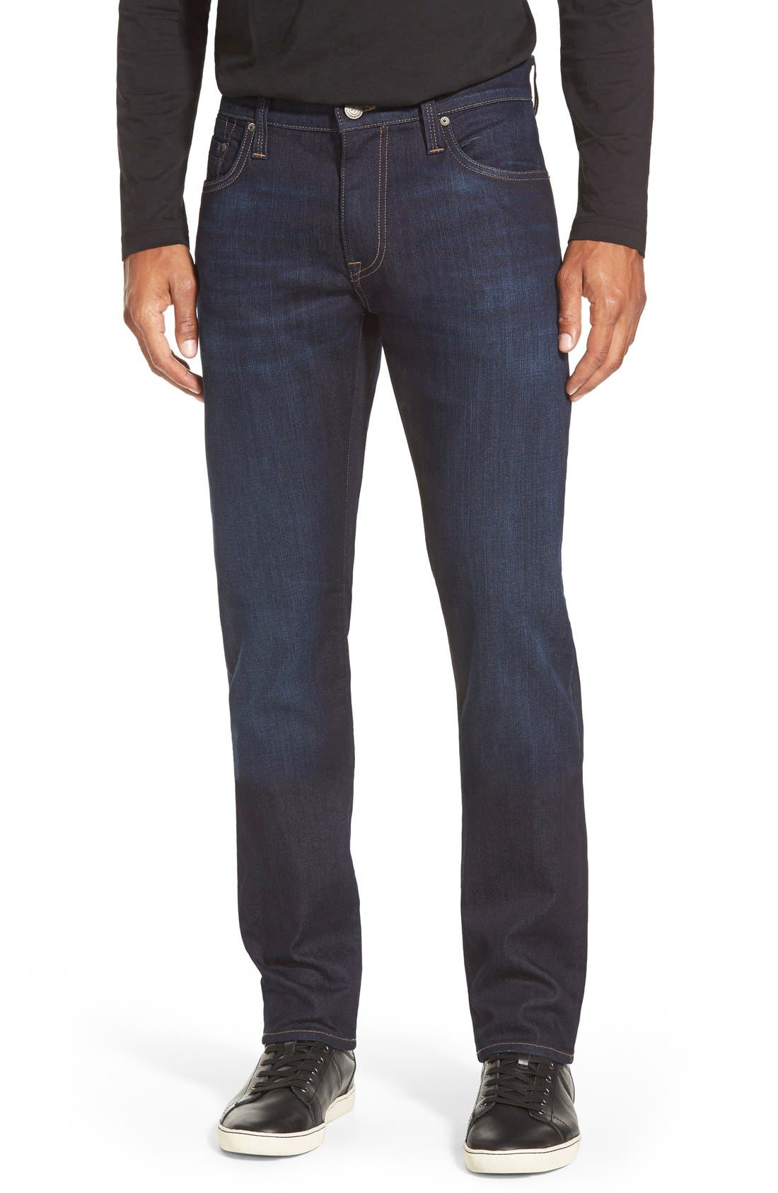 'Jake' Skinny Fit Jeans,                             Main thumbnail 1, color,                             RINSE BRUSHED WILLIAMSBURG