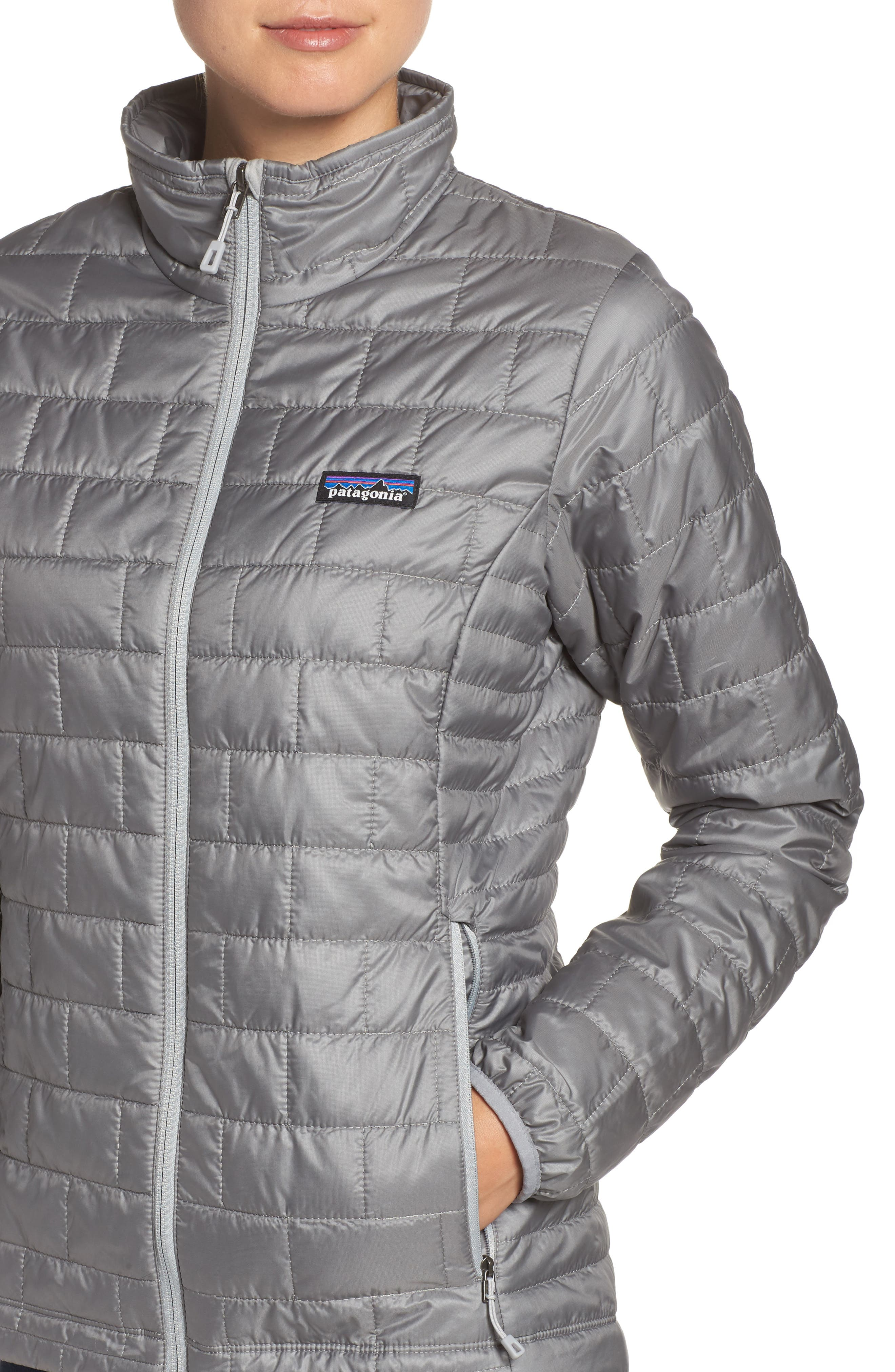 Nano Puff<sup>®</sup> Water Resistant Jacket,                             Alternate thumbnail 4, color,                             FEATHER GREY