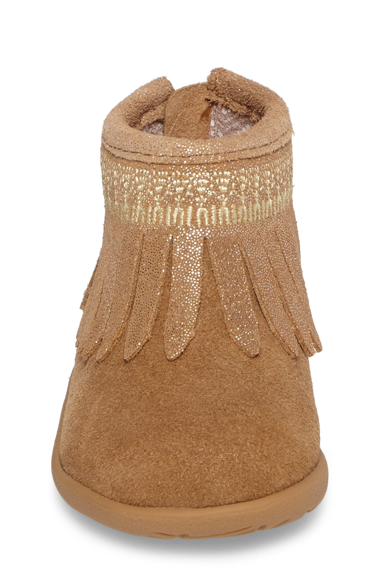 Gracia Sparkle Fringe Bootie,                             Alternate thumbnail 4, color,                             200