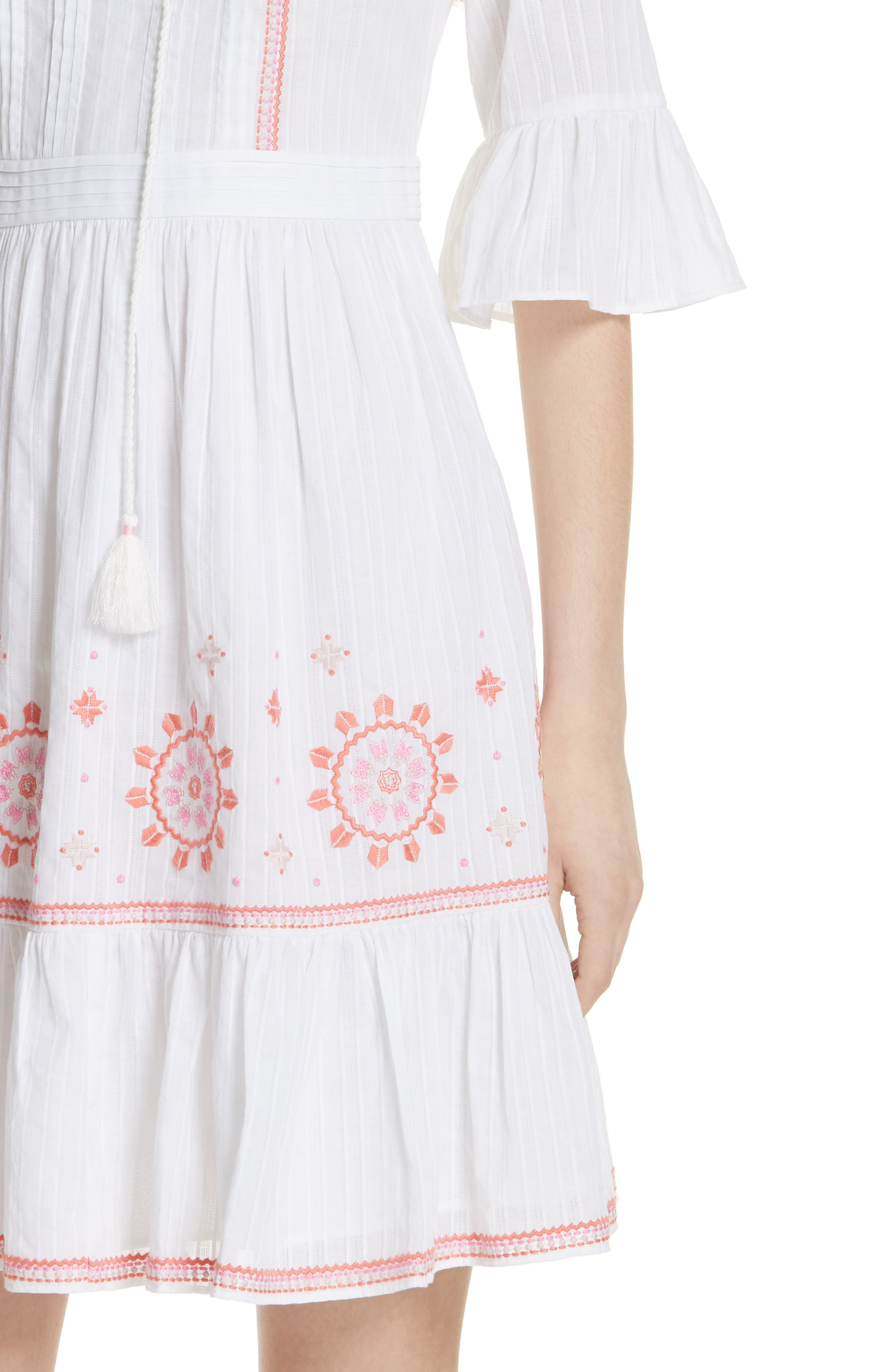 mosaic embroidered dress,                             Alternate thumbnail 8, color,