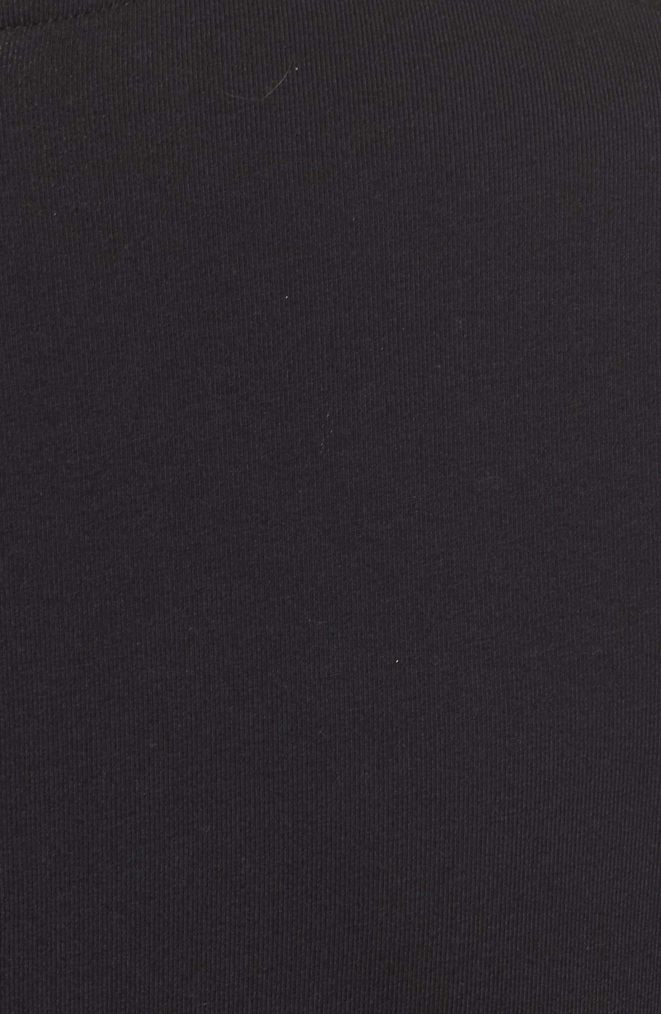 T7 Velour Panel Jumpsuit,                             Alternate thumbnail 6, color,                             001