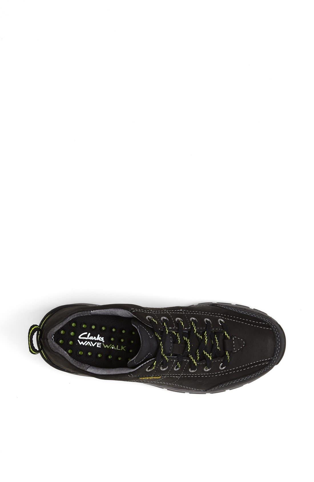 'Wave Trek' Waterproof Sneaker,                             Alternate thumbnail 3, color,                             BLACK