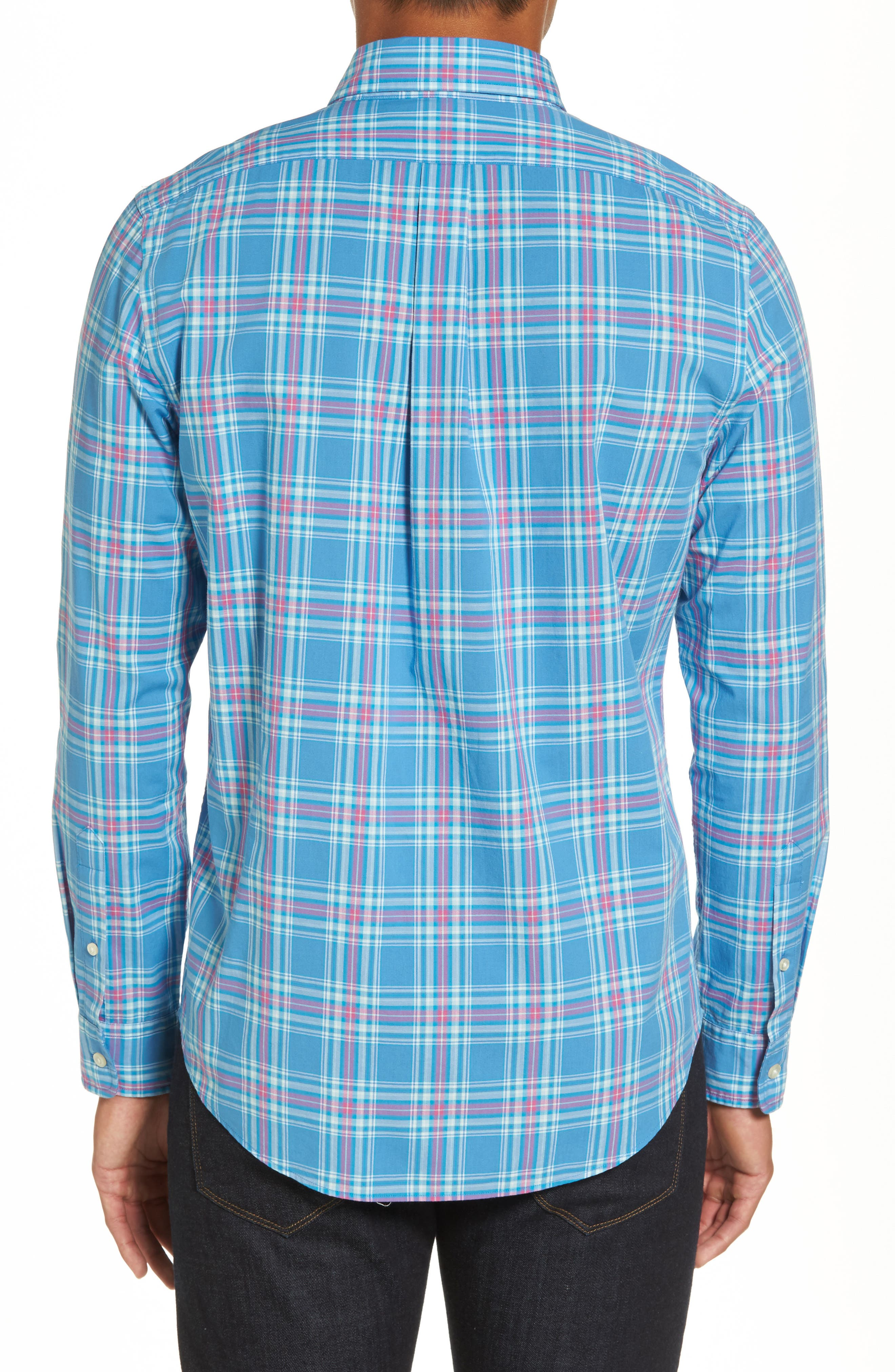 Pelon Plaid Tucker Slim Fit Sport Shirt,                             Alternate thumbnail 2, color,                             496