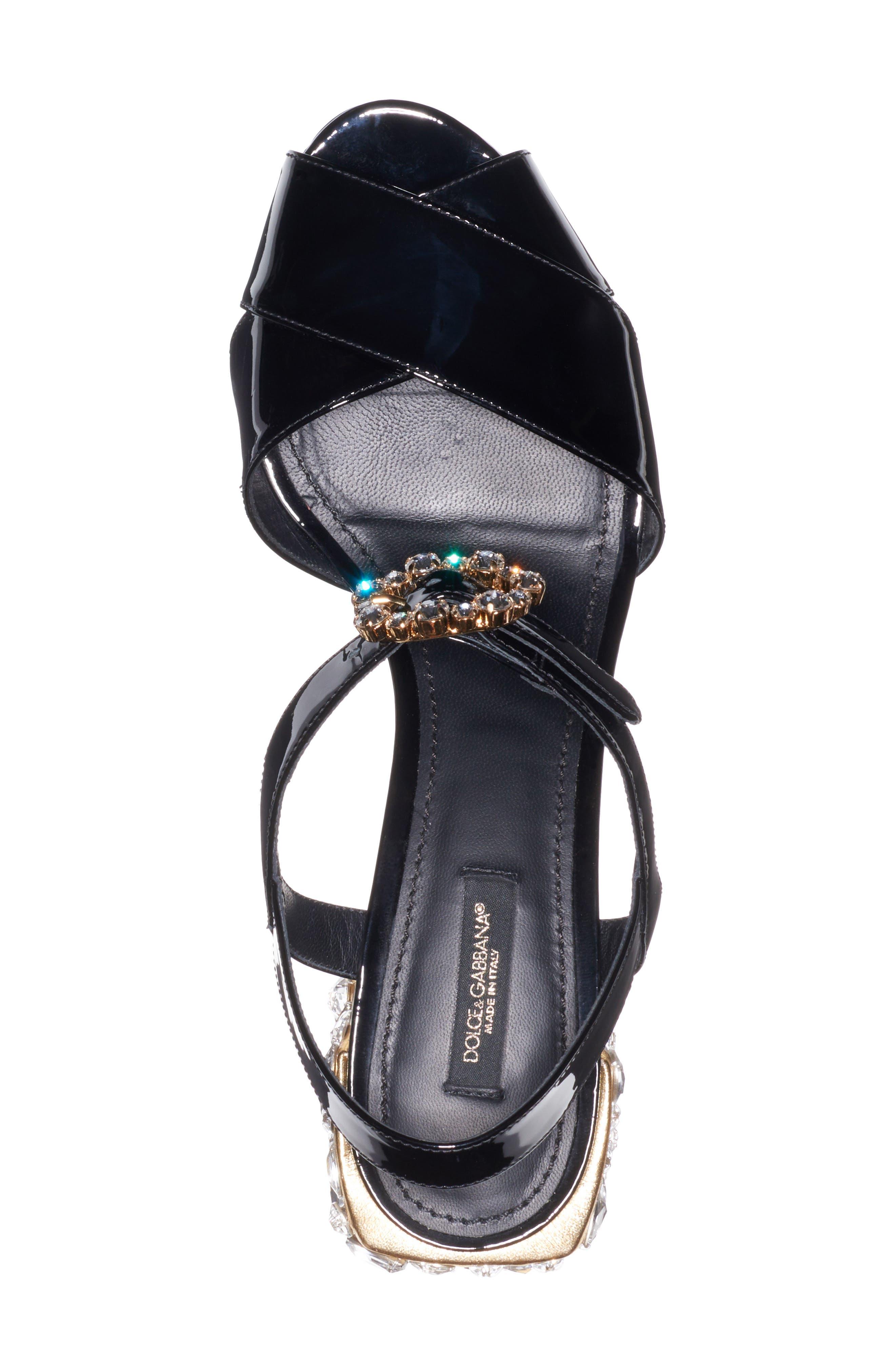 Crystal Embellished Sandal,                             Alternate thumbnail 4, color,                             002