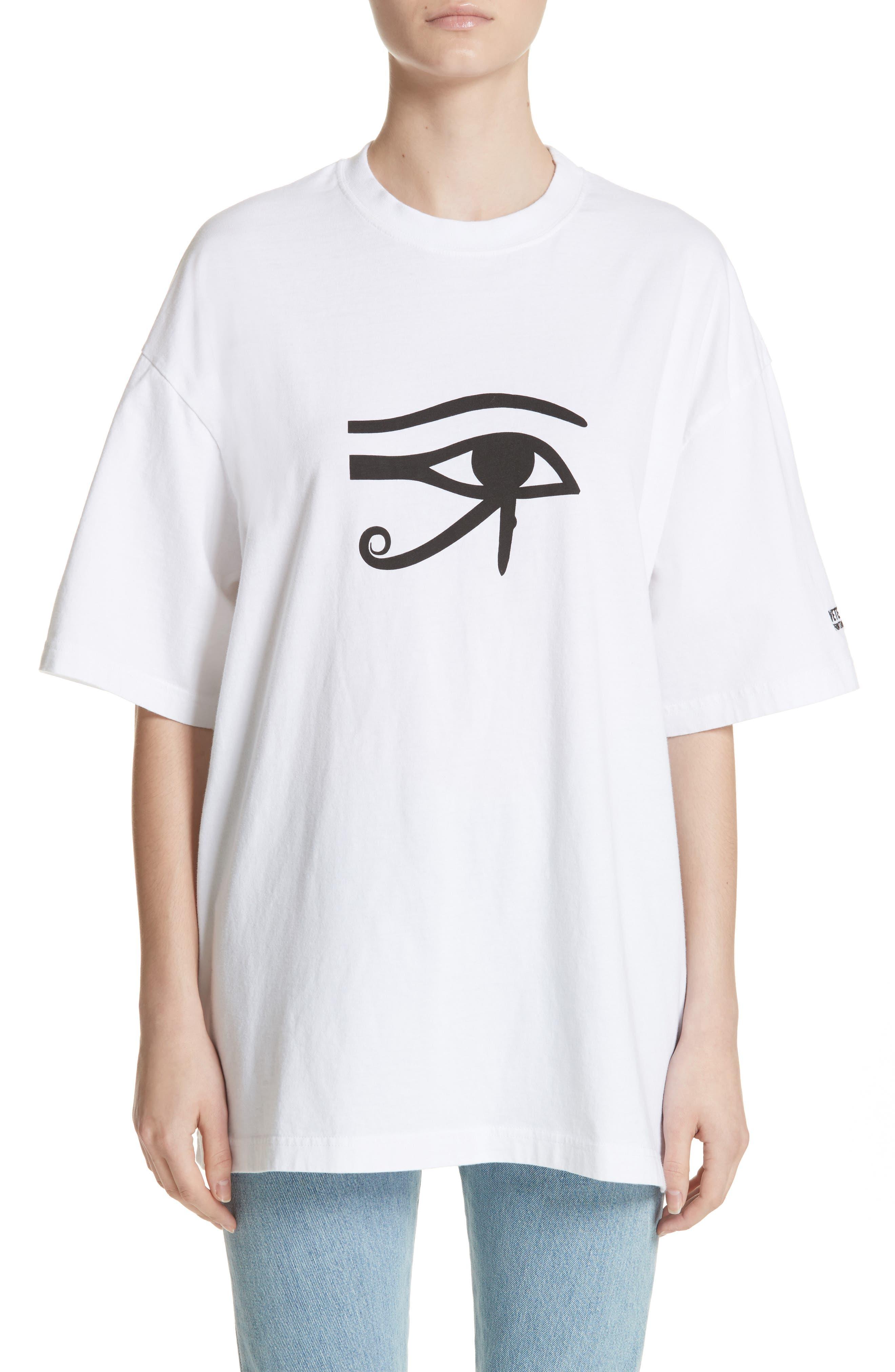 Eye of Horus Cotton Tee,                             Main thumbnail 1, color,