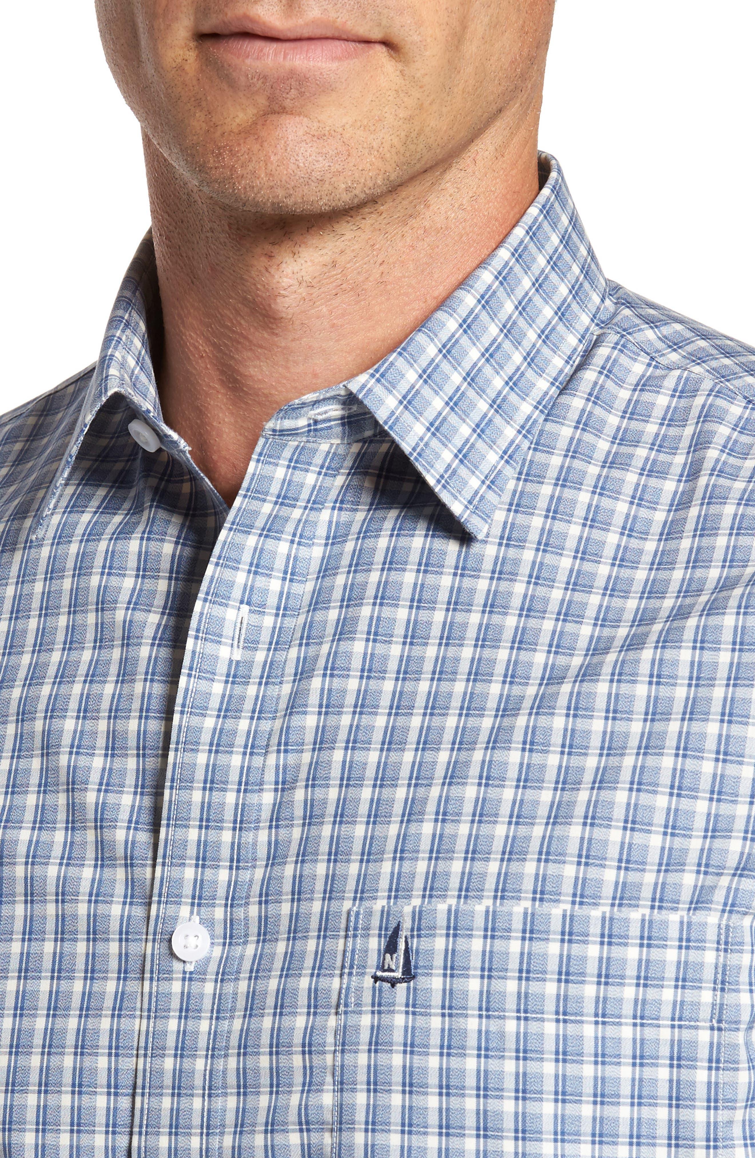 Smartcare<sup>™</sup> Regular Fit Plaid Sport Shirt,                             Alternate thumbnail 28, color,