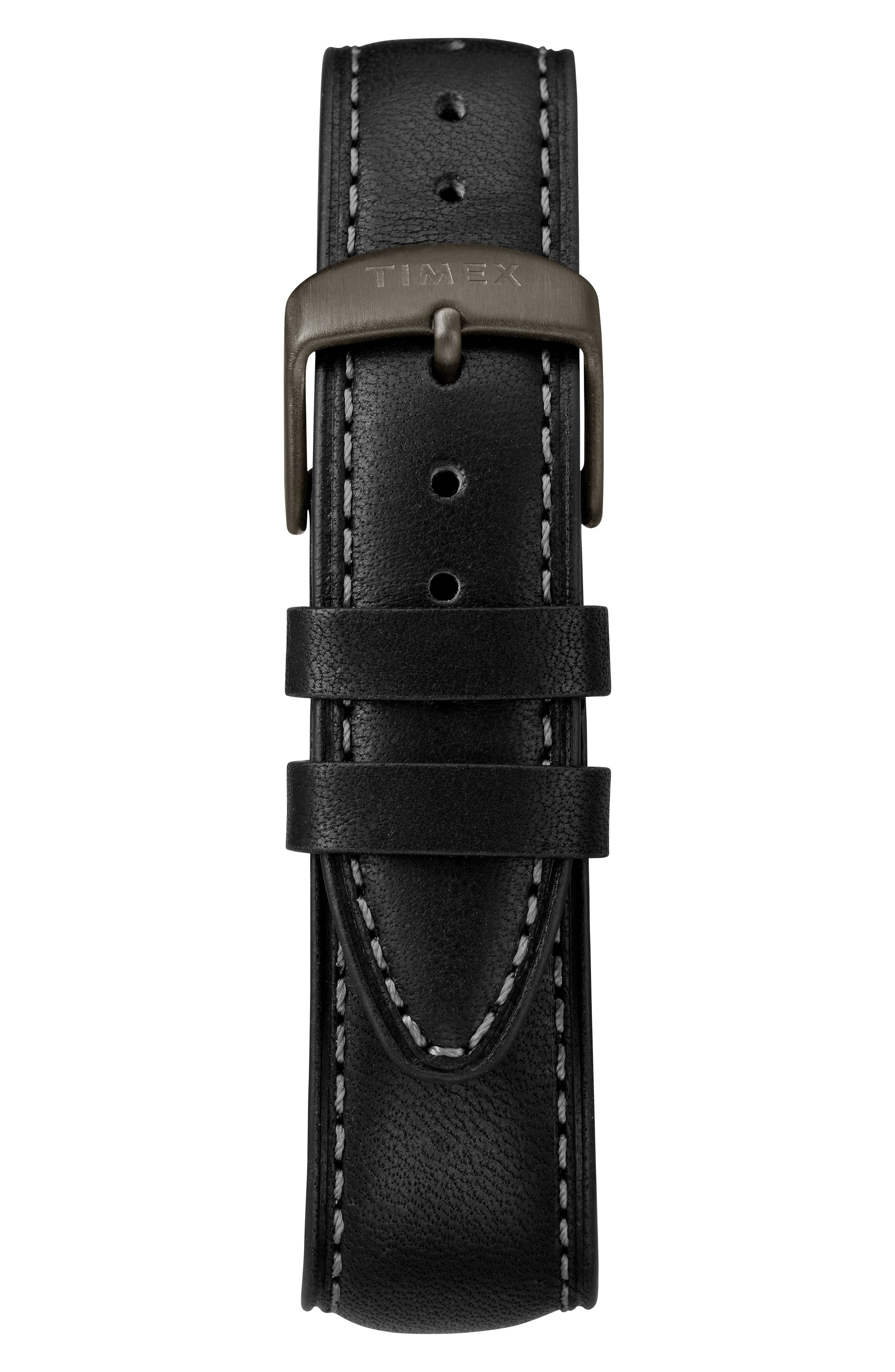 Waterbury Chronograph Leather Strap Watch, 42mm,                             Alternate thumbnail 2, color,                             BLACK