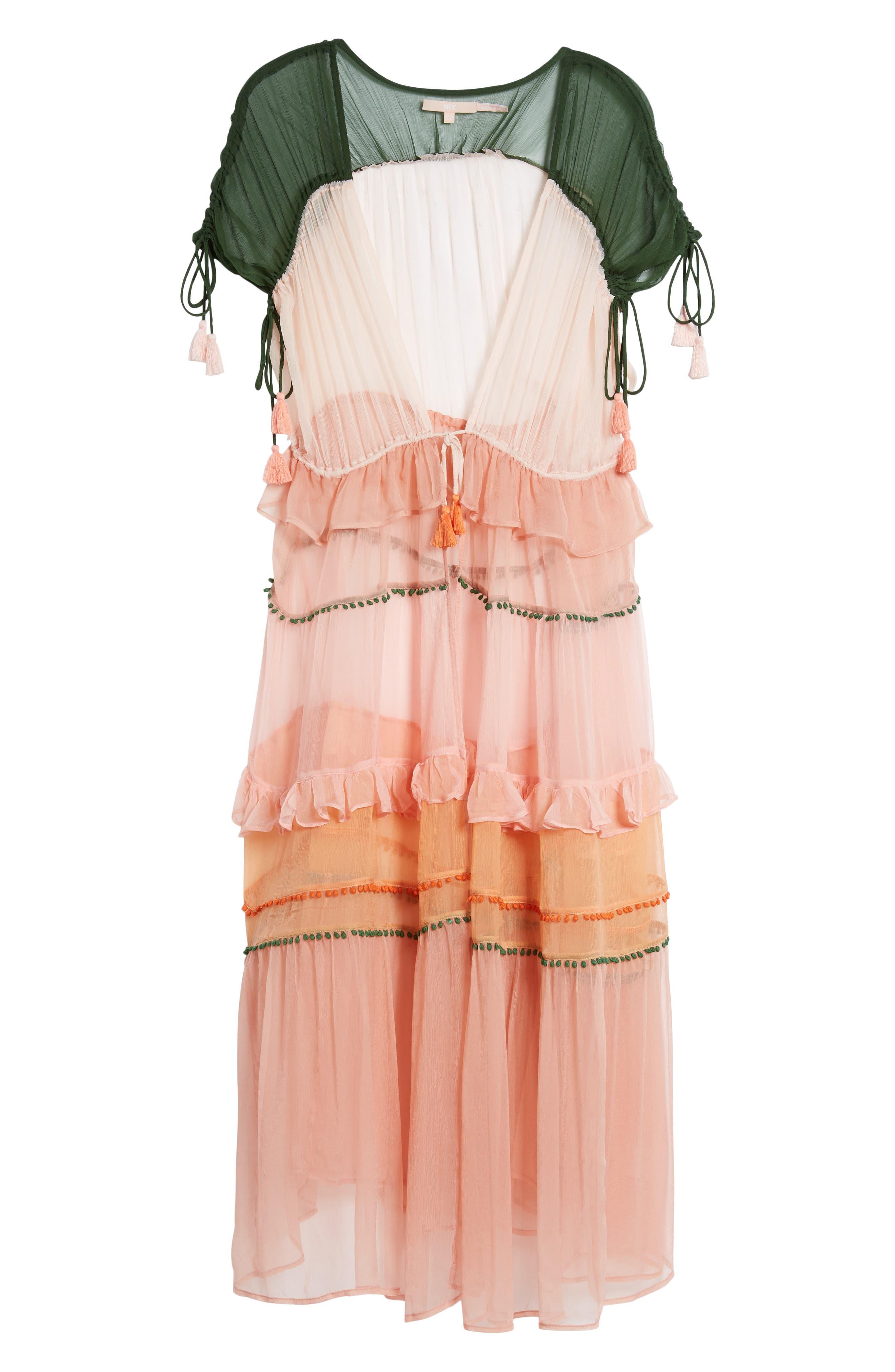 Capri Kimono,                             Alternate thumbnail 6, color,                             CORAL COMBO