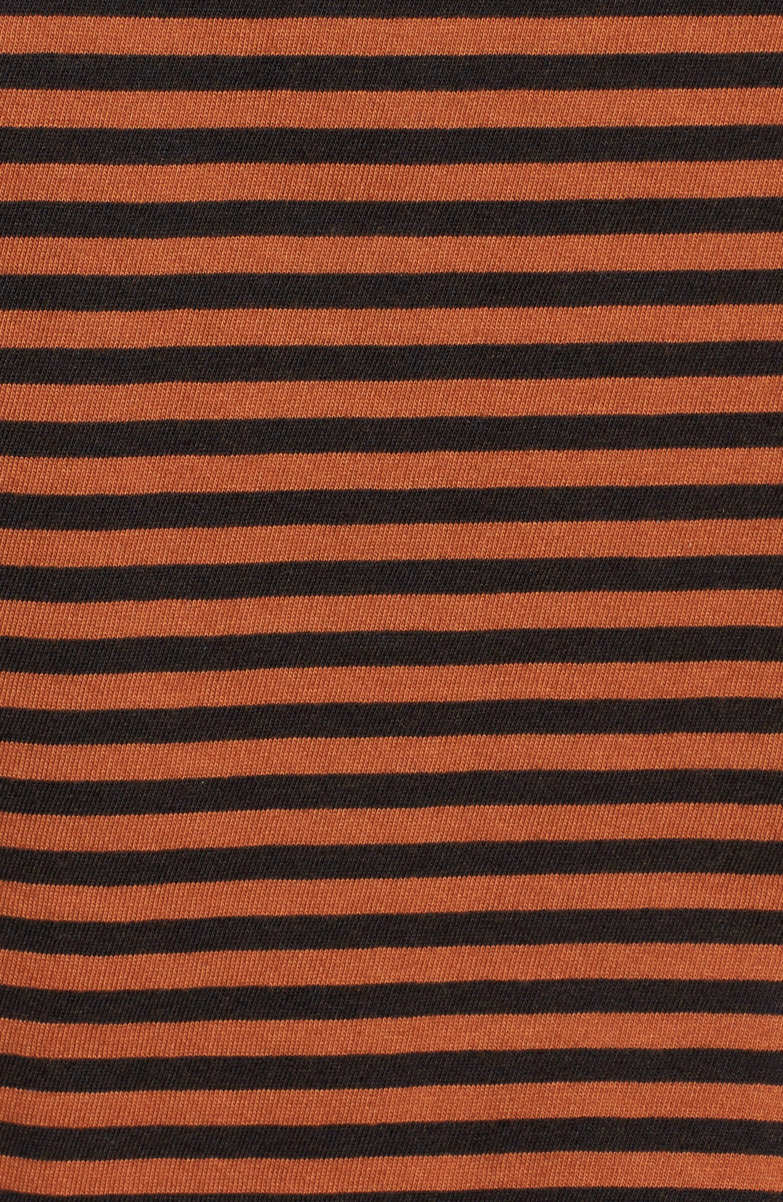 Stripe Tee,                             Alternate thumbnail 5, color,                             TOBACCO