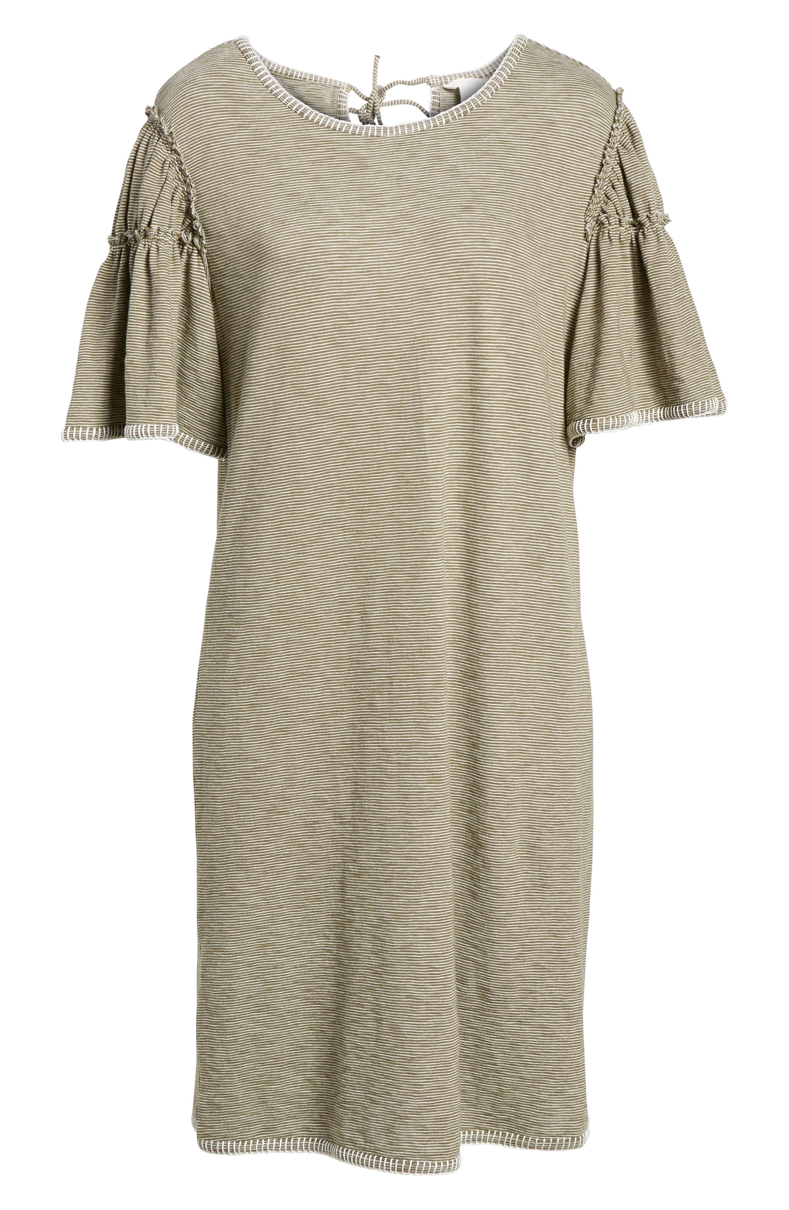Flounce Sleeve Knit Dress,                             Alternate thumbnail 12, color,