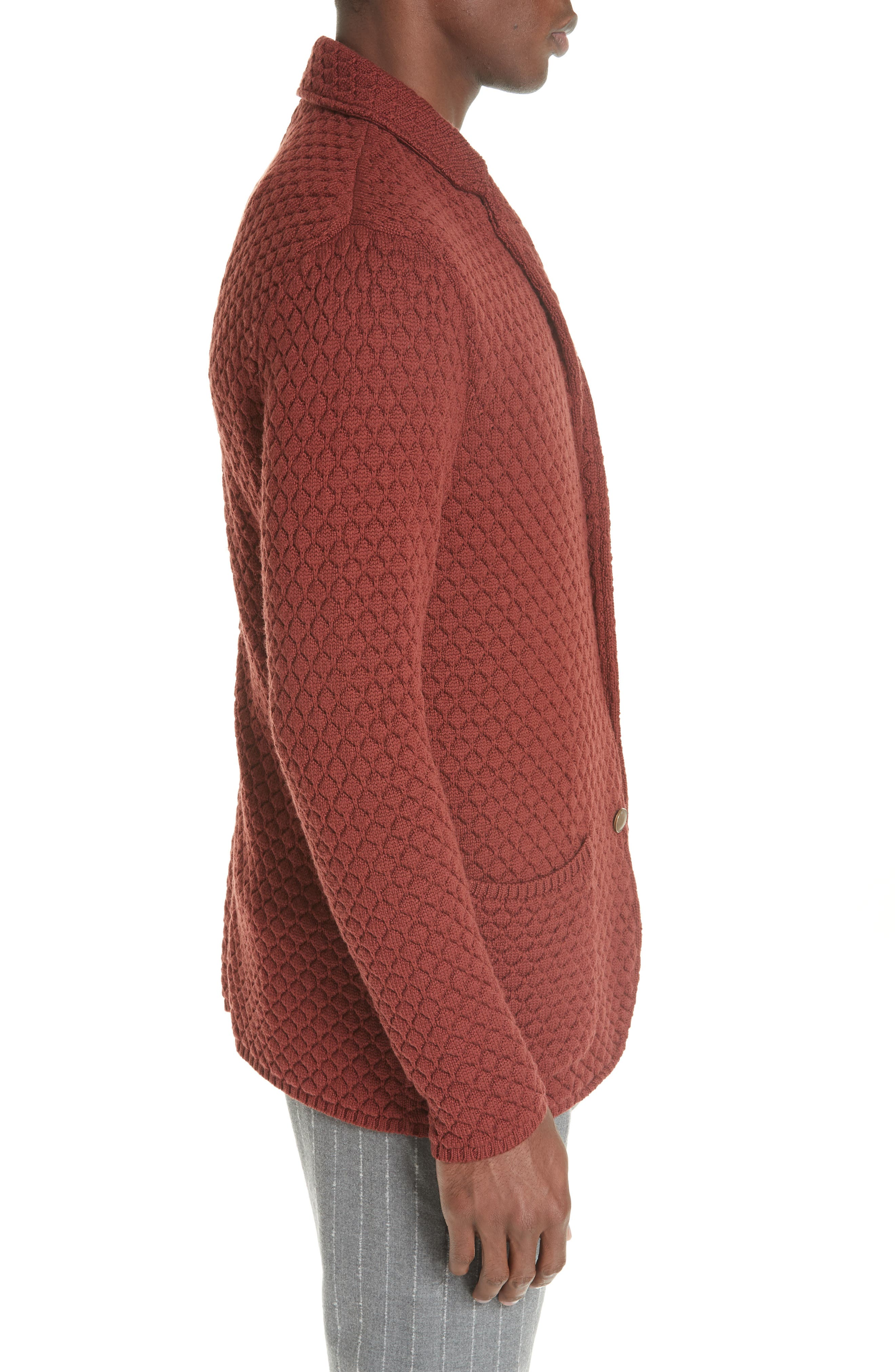 Wool Sweater Jacket,                             Alternate thumbnail 3, color,                             223