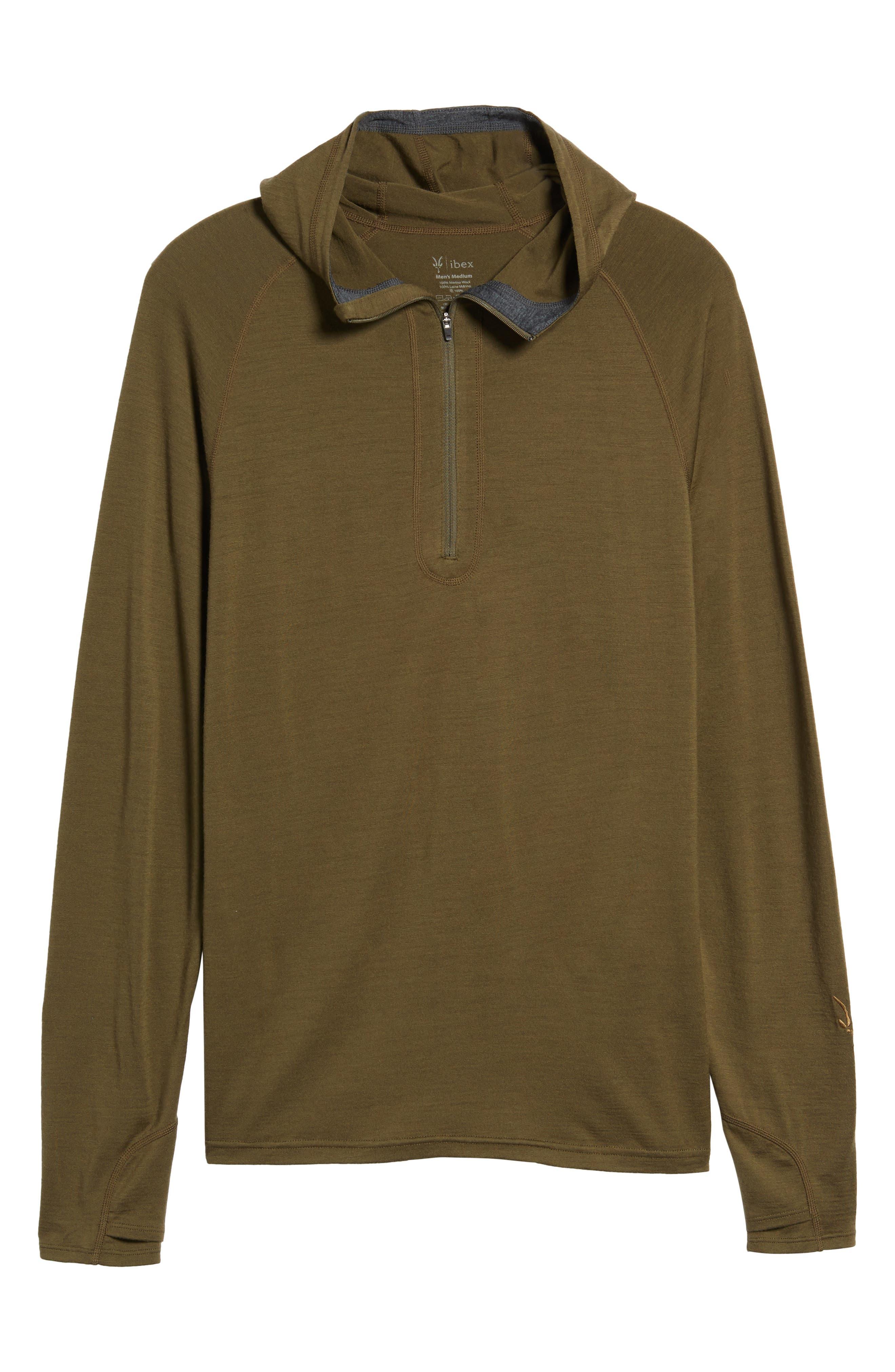 'Indie' Merino Wool Quarter Zip Hoodie,                             Alternate thumbnail 6, color,                             250