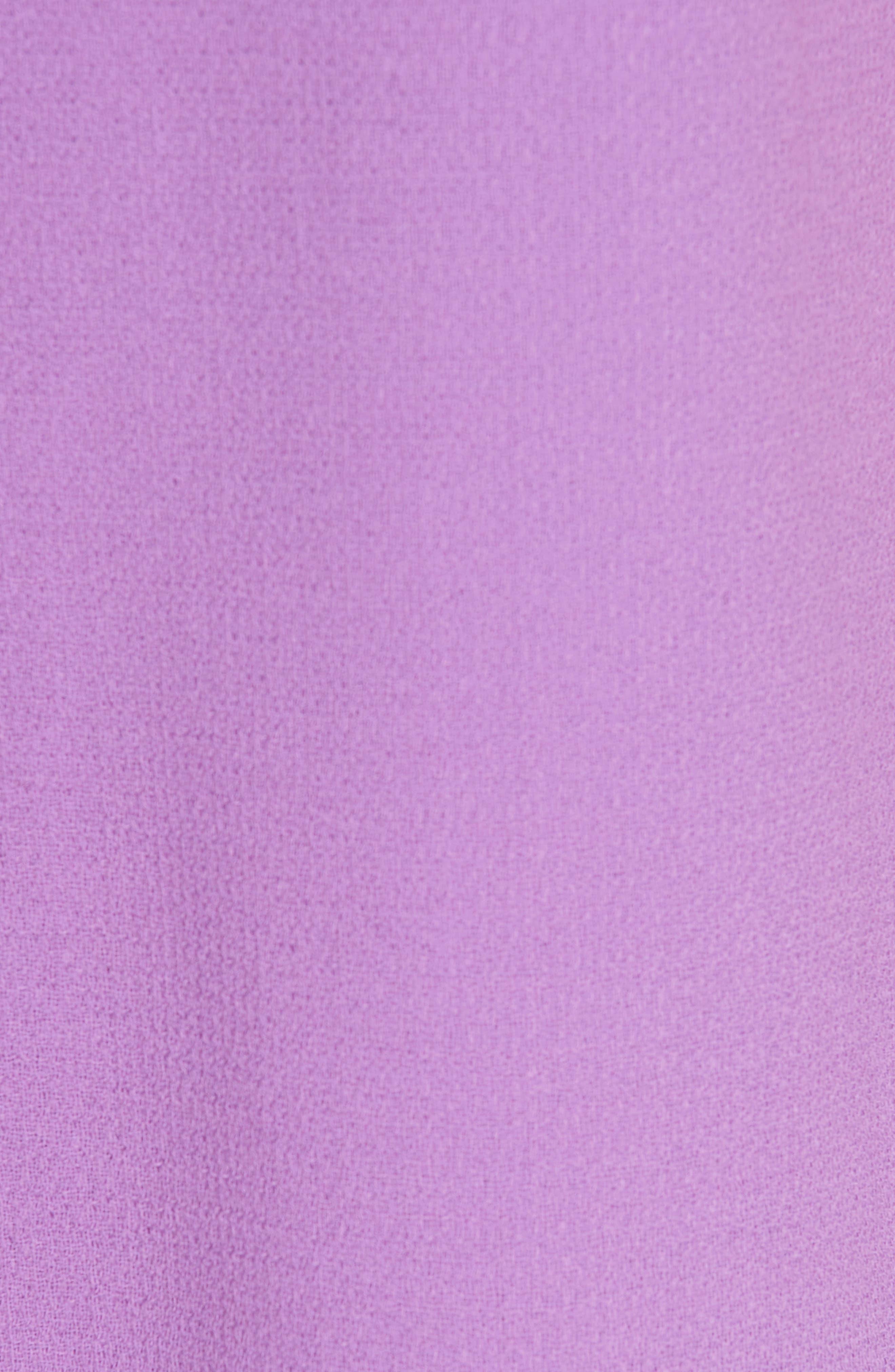 Scarf Neck Wool Blend Crepe Drop Waist Dress,                             Alternate thumbnail 8, color,                             LAVENDER
