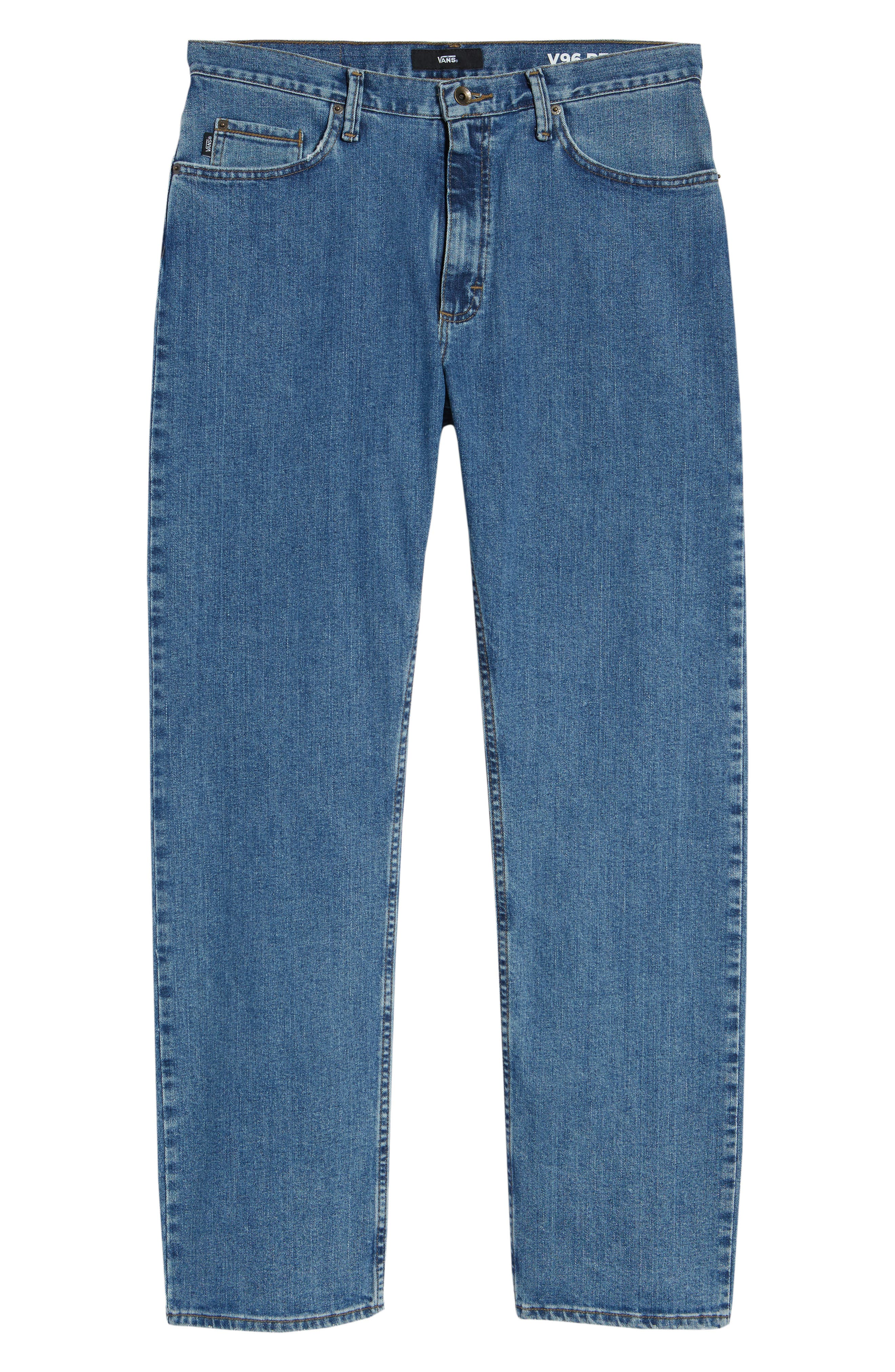 V96 Relaxed Fit Jeans,                             Alternate thumbnail 6, color,                             STONE WASH