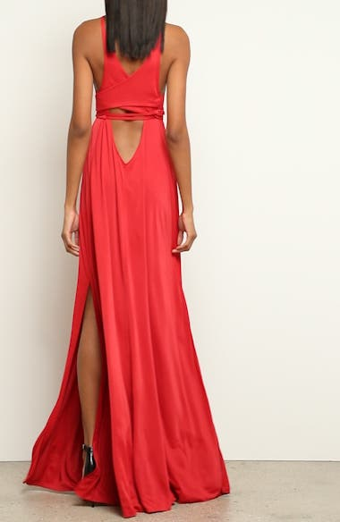 Back Cutout Jersey Gown, video thumbnail