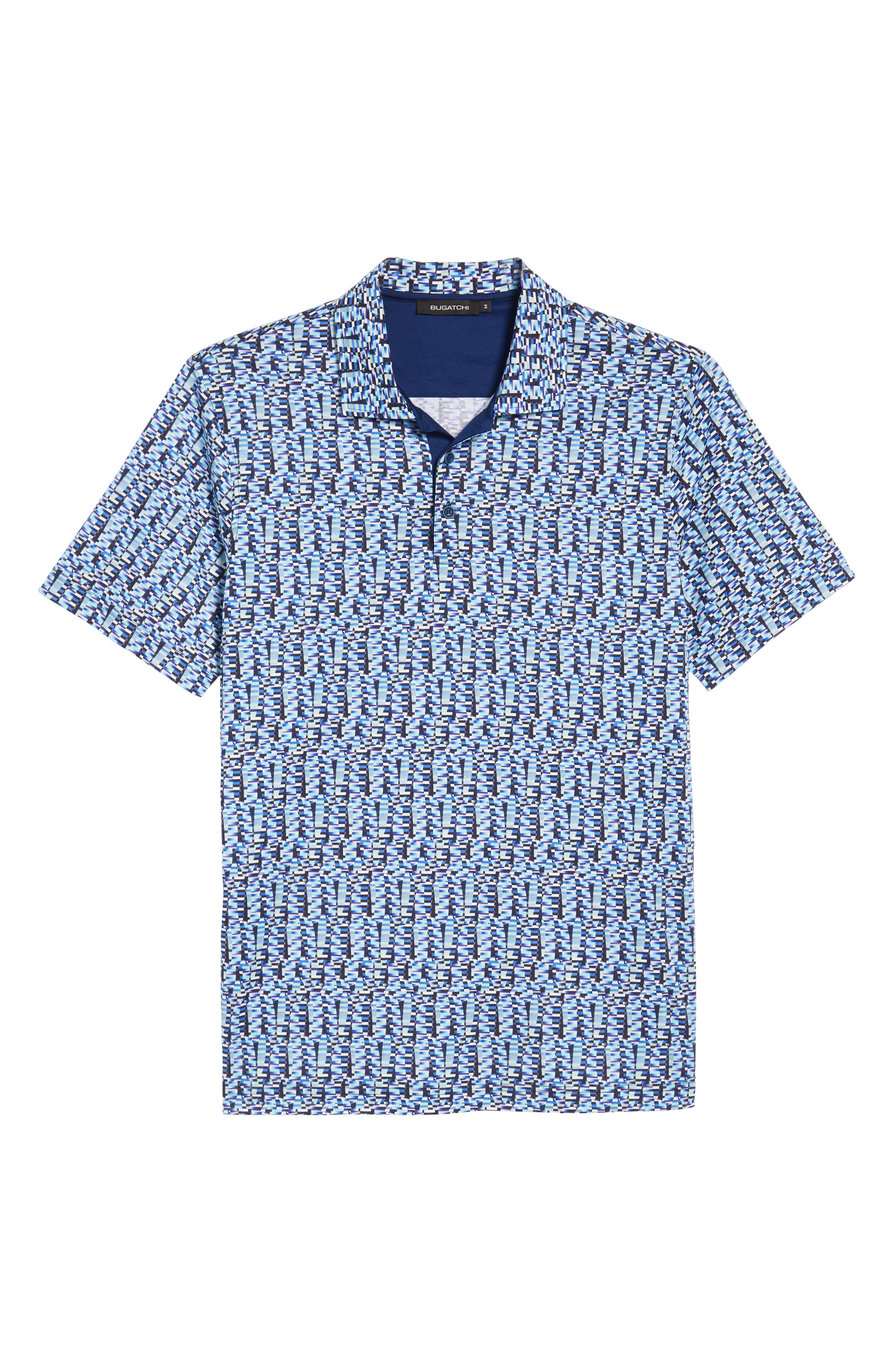 Classic Fit Abstract Brick Layout Polo,                             Alternate thumbnail 6, color,                             425