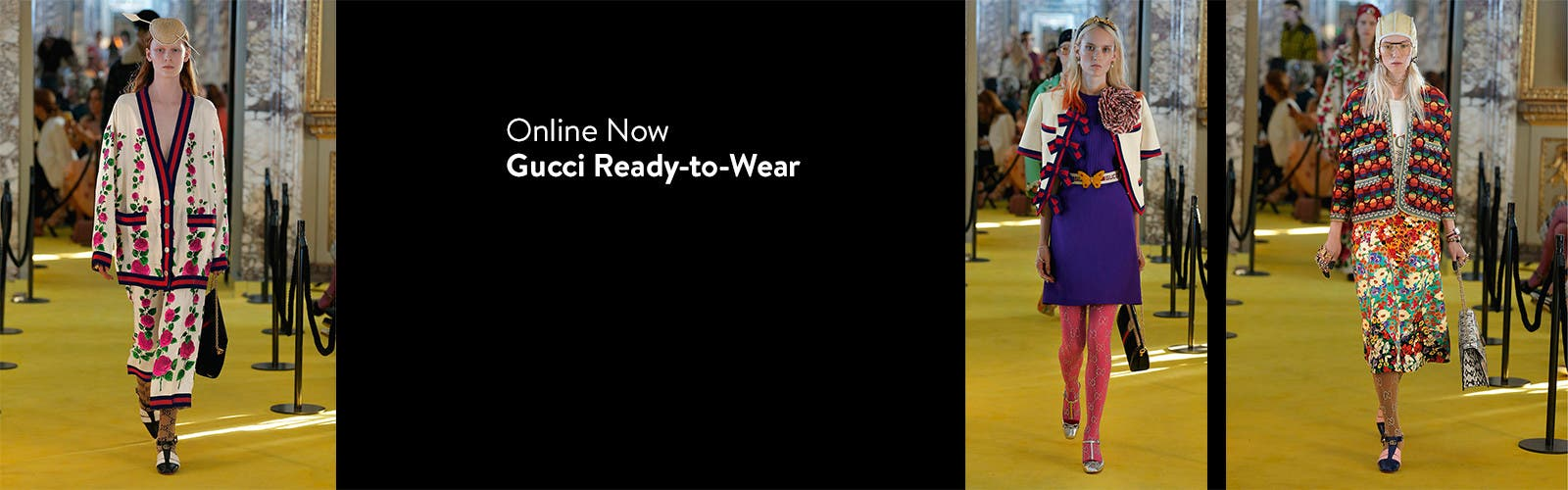 Online now: Gucci ready-to-wear; women's designer clothing.