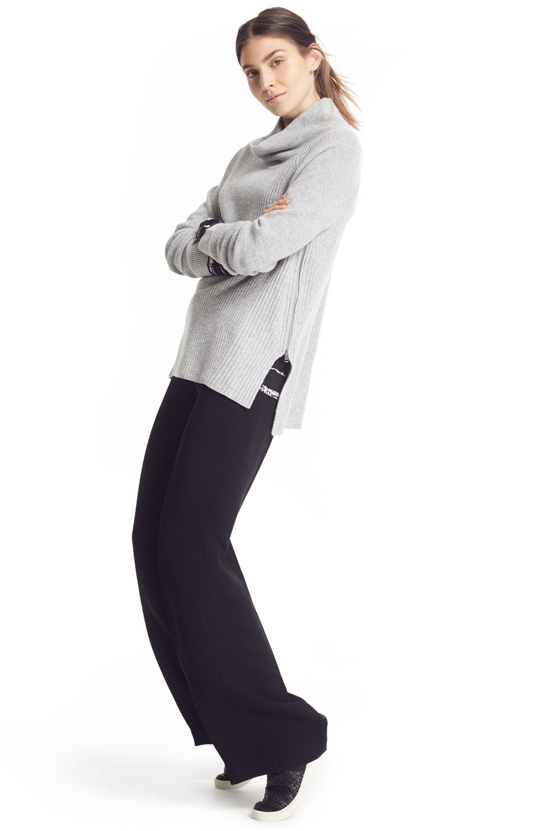 VINCE,                             Wide Leg Trousers,                             Alternate thumbnail 5, color,                             001