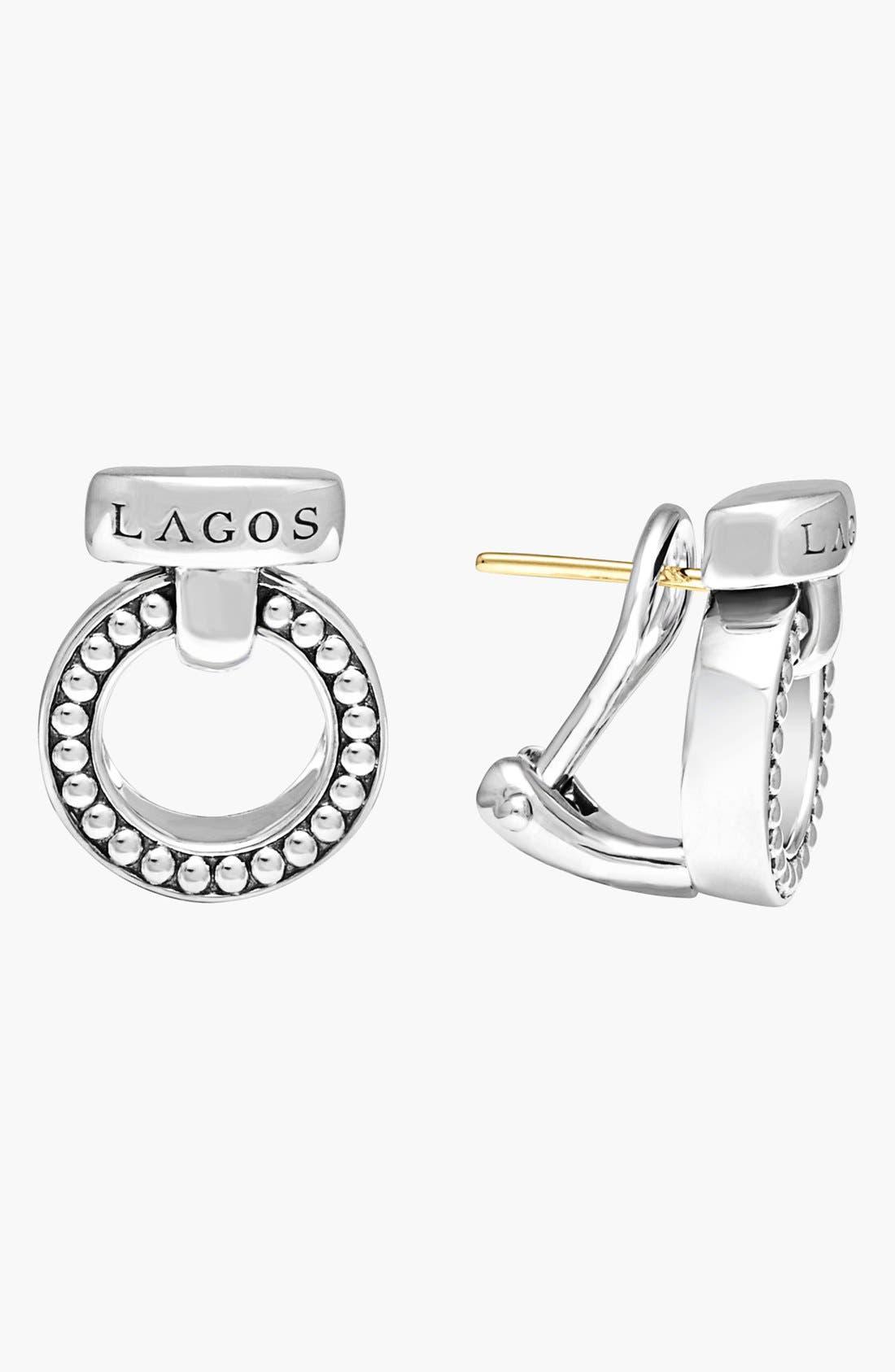 'Enso' Caviar<sup>™</sup> Clip Earrings,                         Main,                         color,