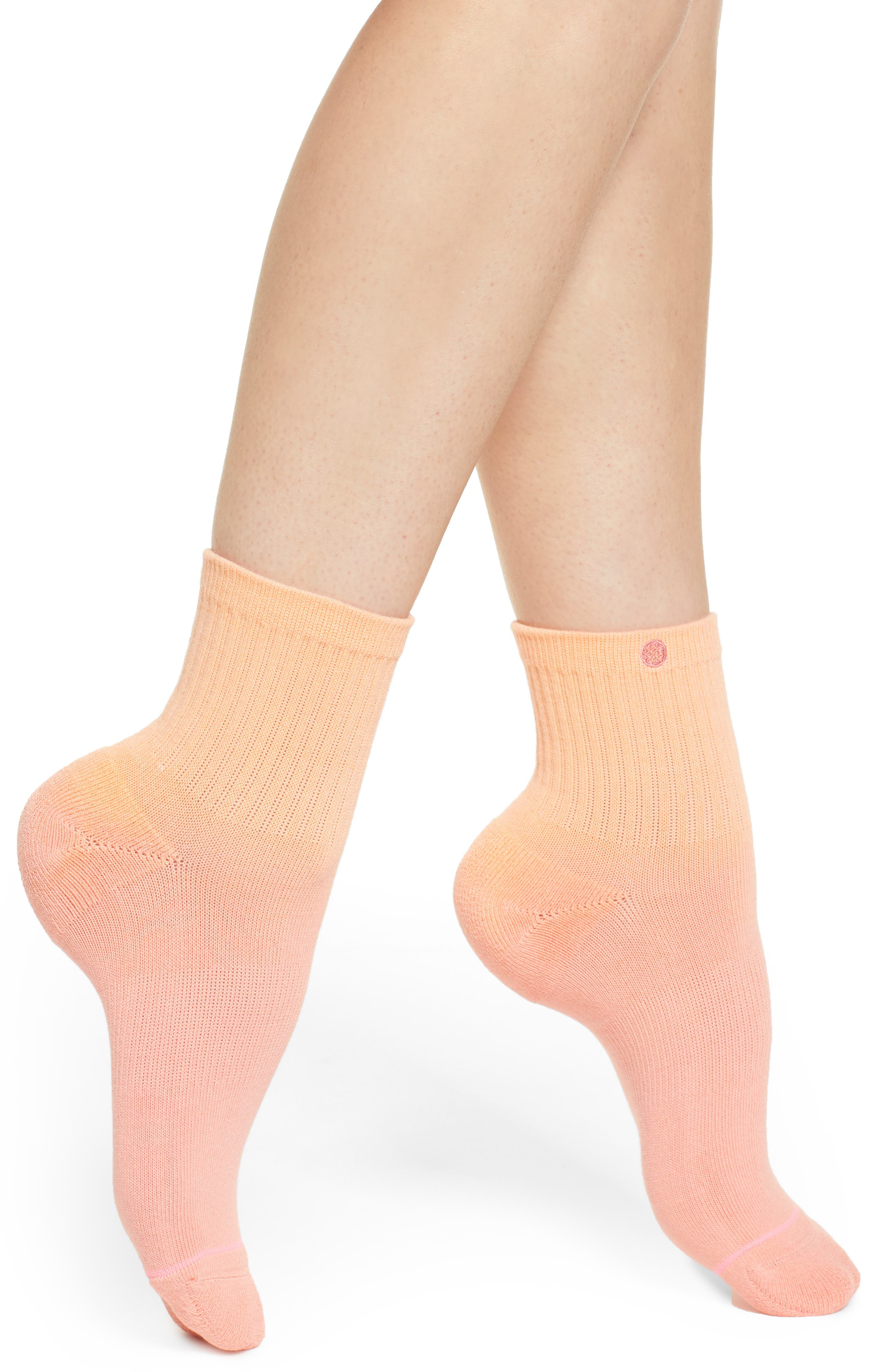 Uncommon Dip Low Rider Socks,                             Main thumbnail 1, color,                             PEACH