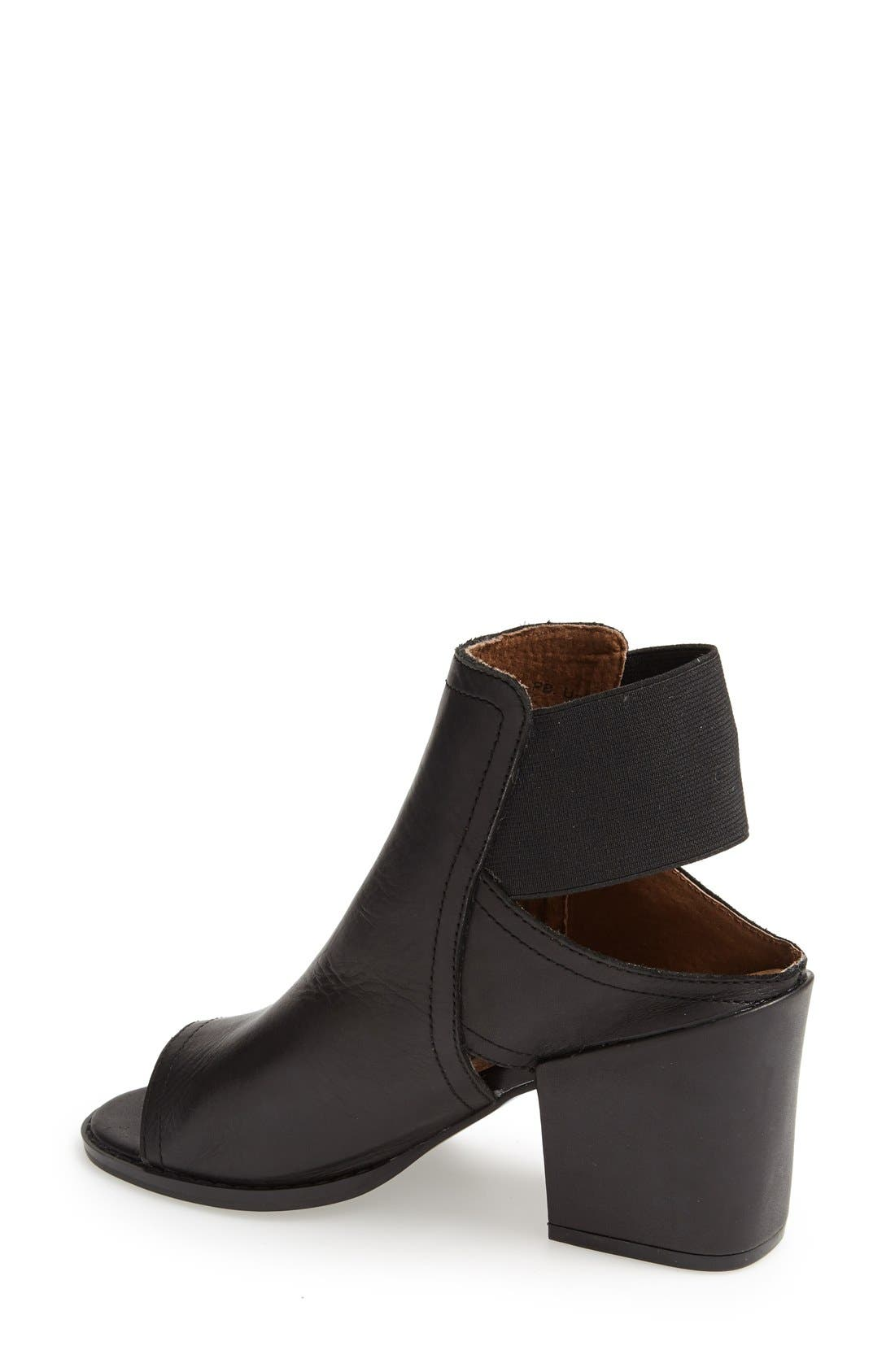 'Polly' Open Toe Bootie,                             Alternate thumbnail 4, color,                             001