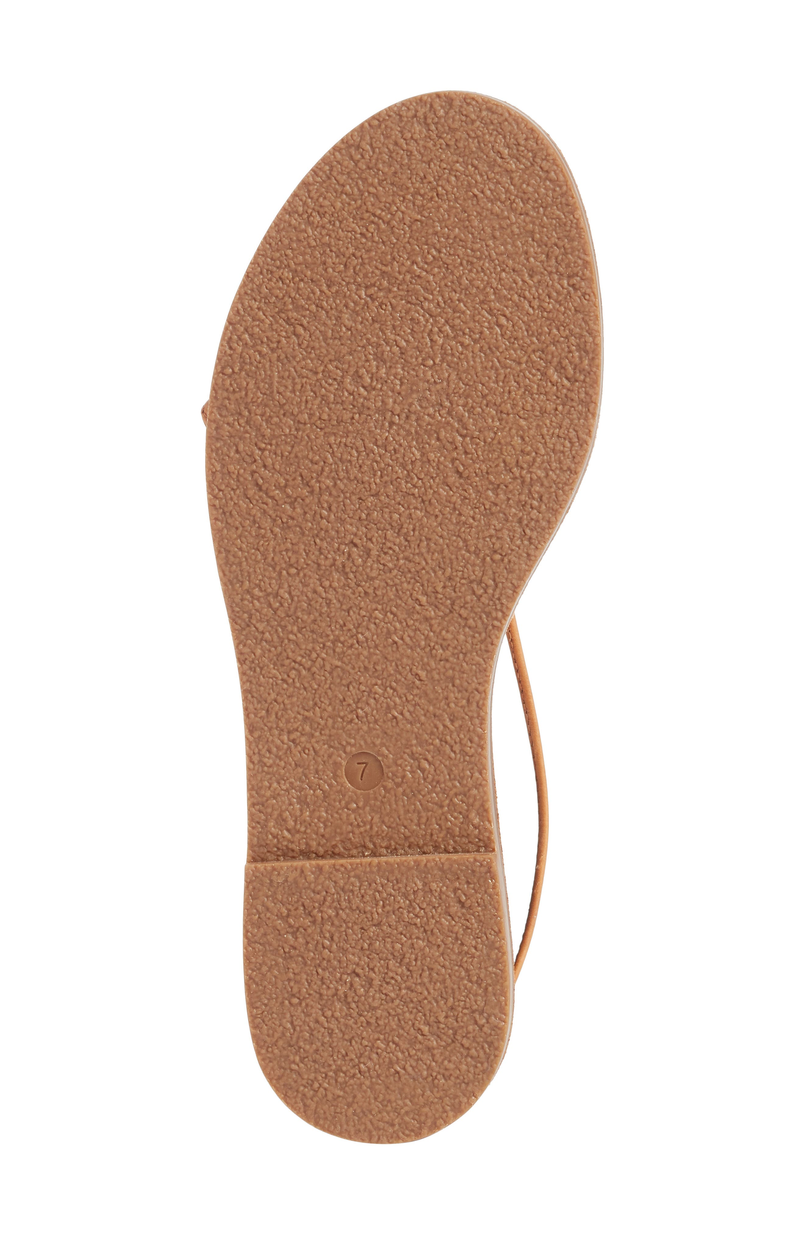 The Boardwalk Lace-Up Sandal,                             Alternate thumbnail 6, color,                             DESERT CAMEL LEATHER