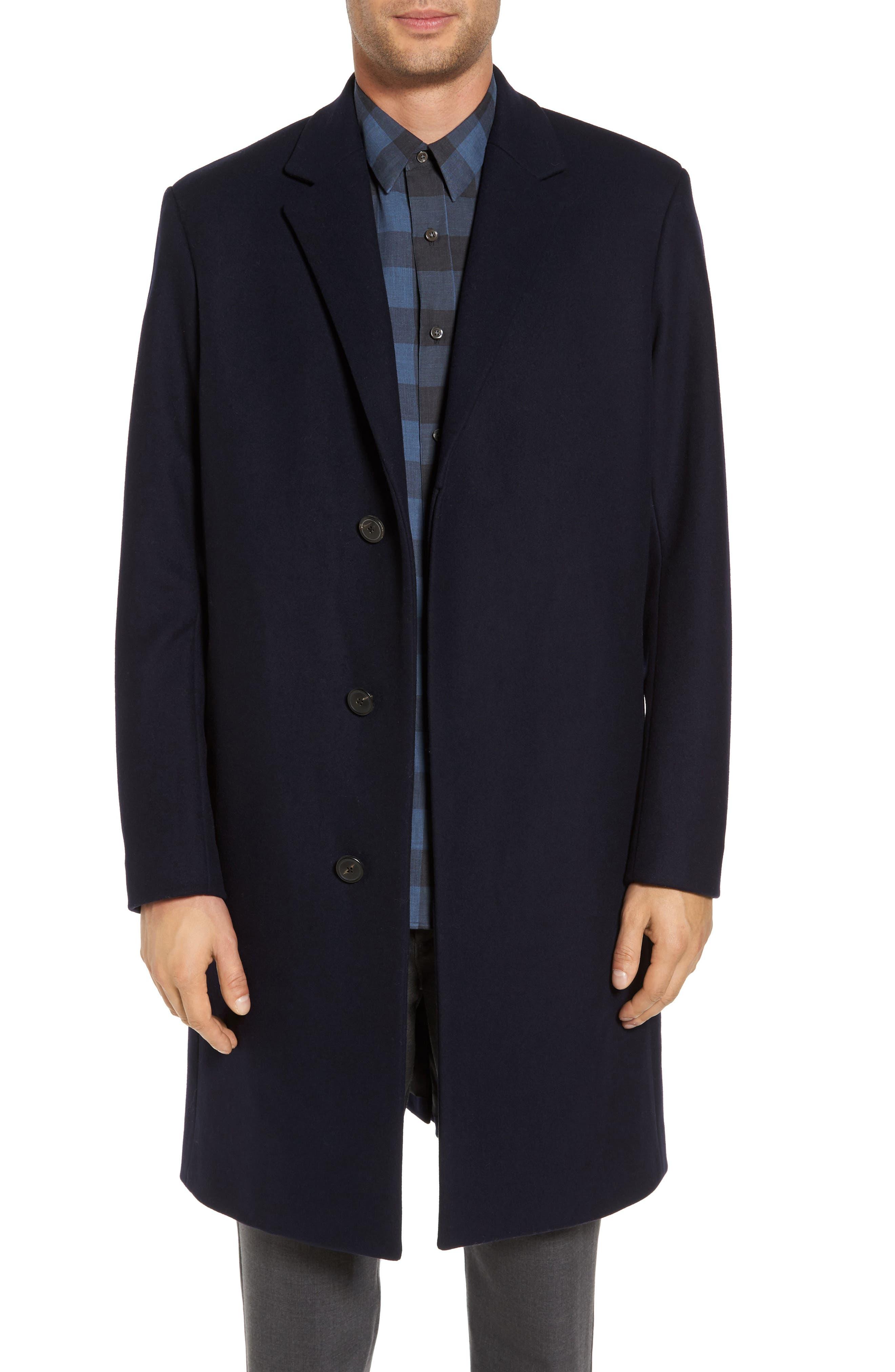 Bower Melton Wool Blend Topcoat,                             Main thumbnail 3, color,