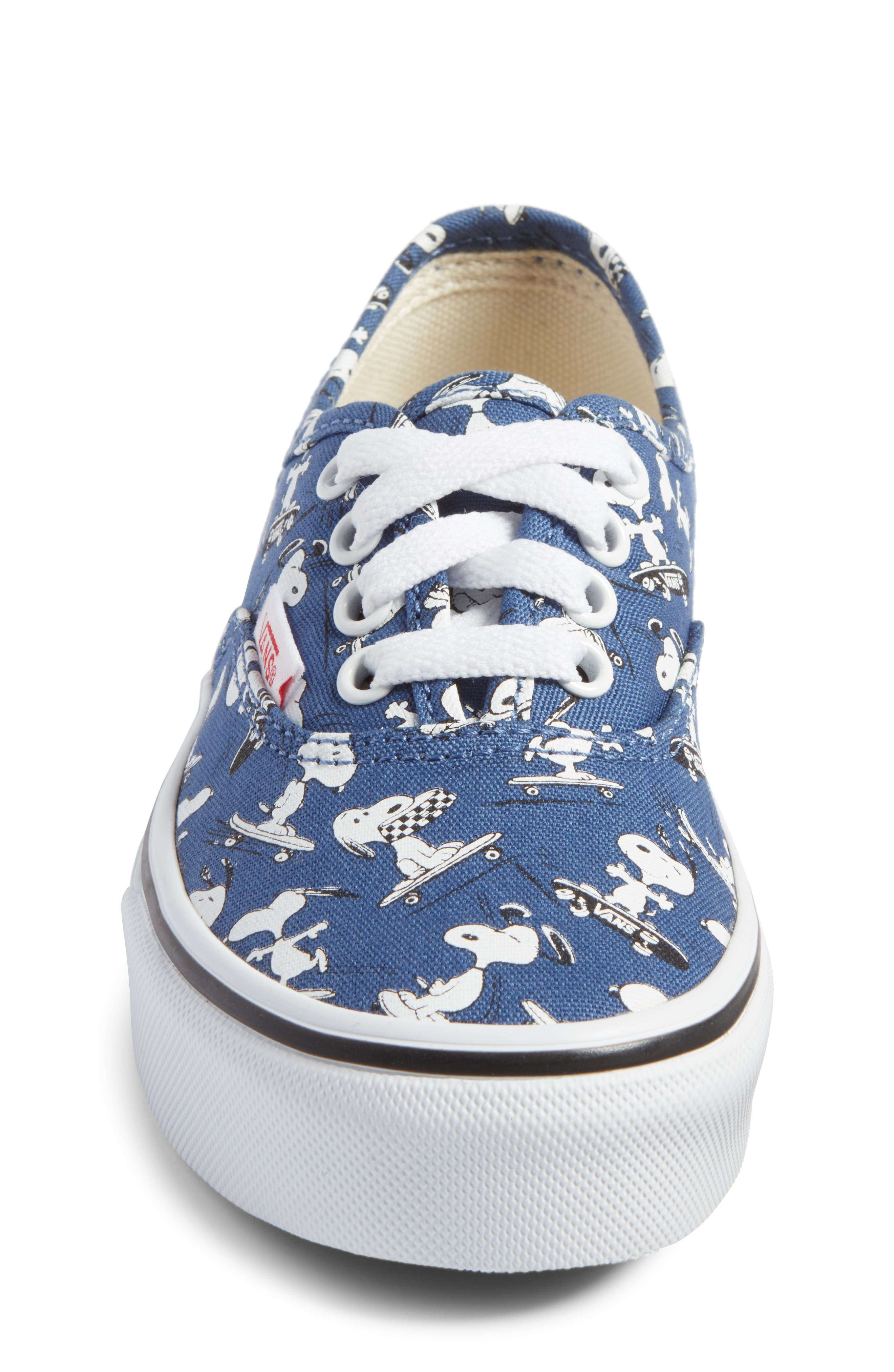 x Peanuts Authentic Sneaker,                             Alternate thumbnail 4, color,                             400