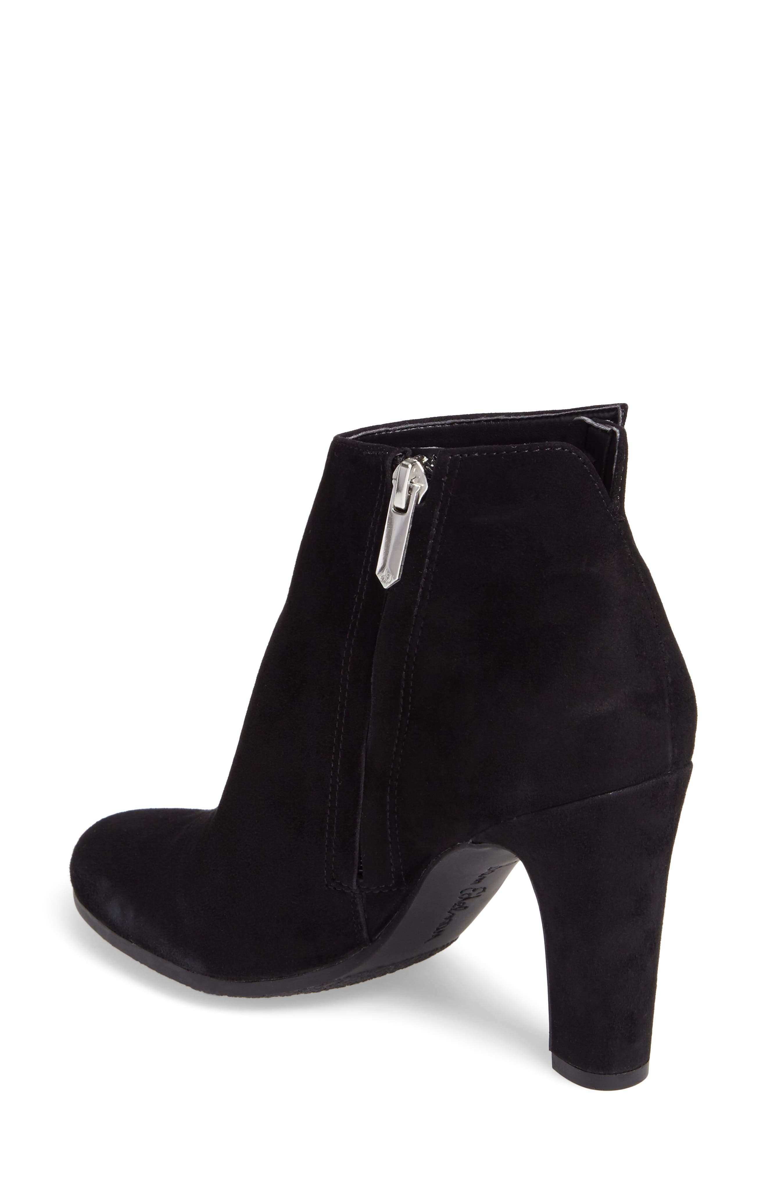 Sadee Angle Zip Bootie,                             Alternate thumbnail 2, color,                             BLACK SUEDE