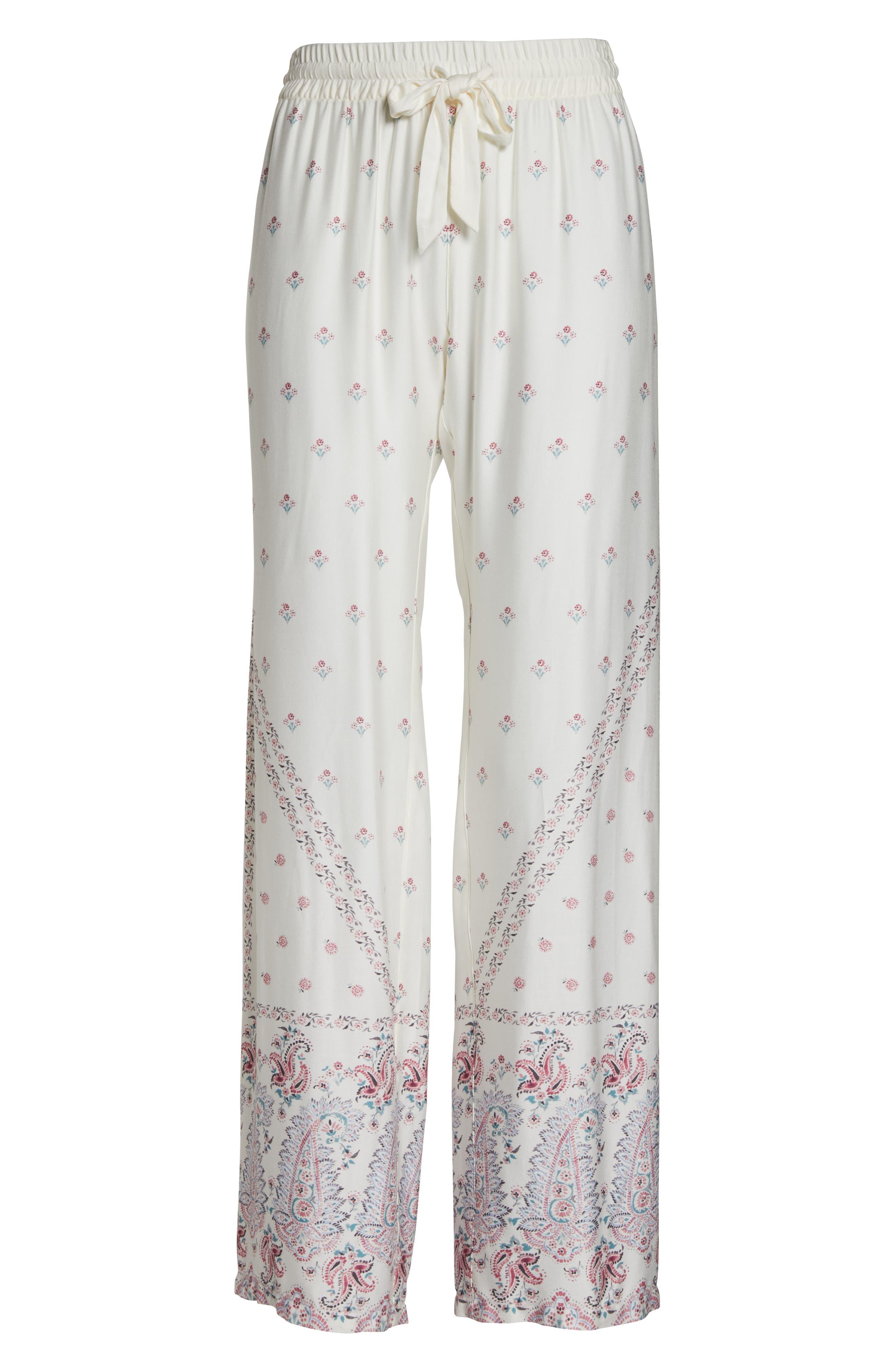 Paisley Park Pajama Pants,                             Alternate thumbnail 6, color,                             ANTIQUE WHITE