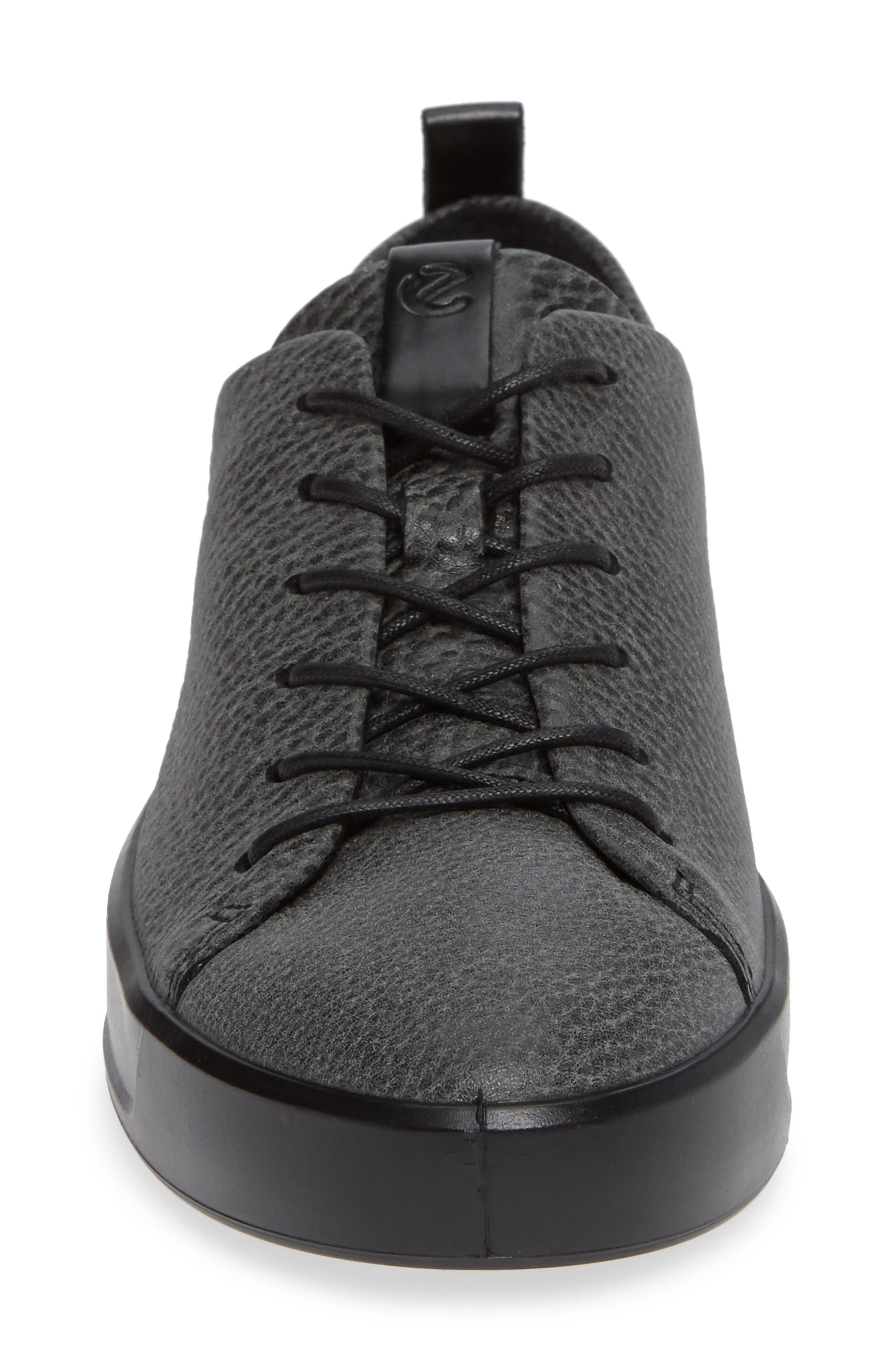 Soft 8 Sneaker,                             Alternate thumbnail 4, color,                             BLACK/ BLACK LEATHER