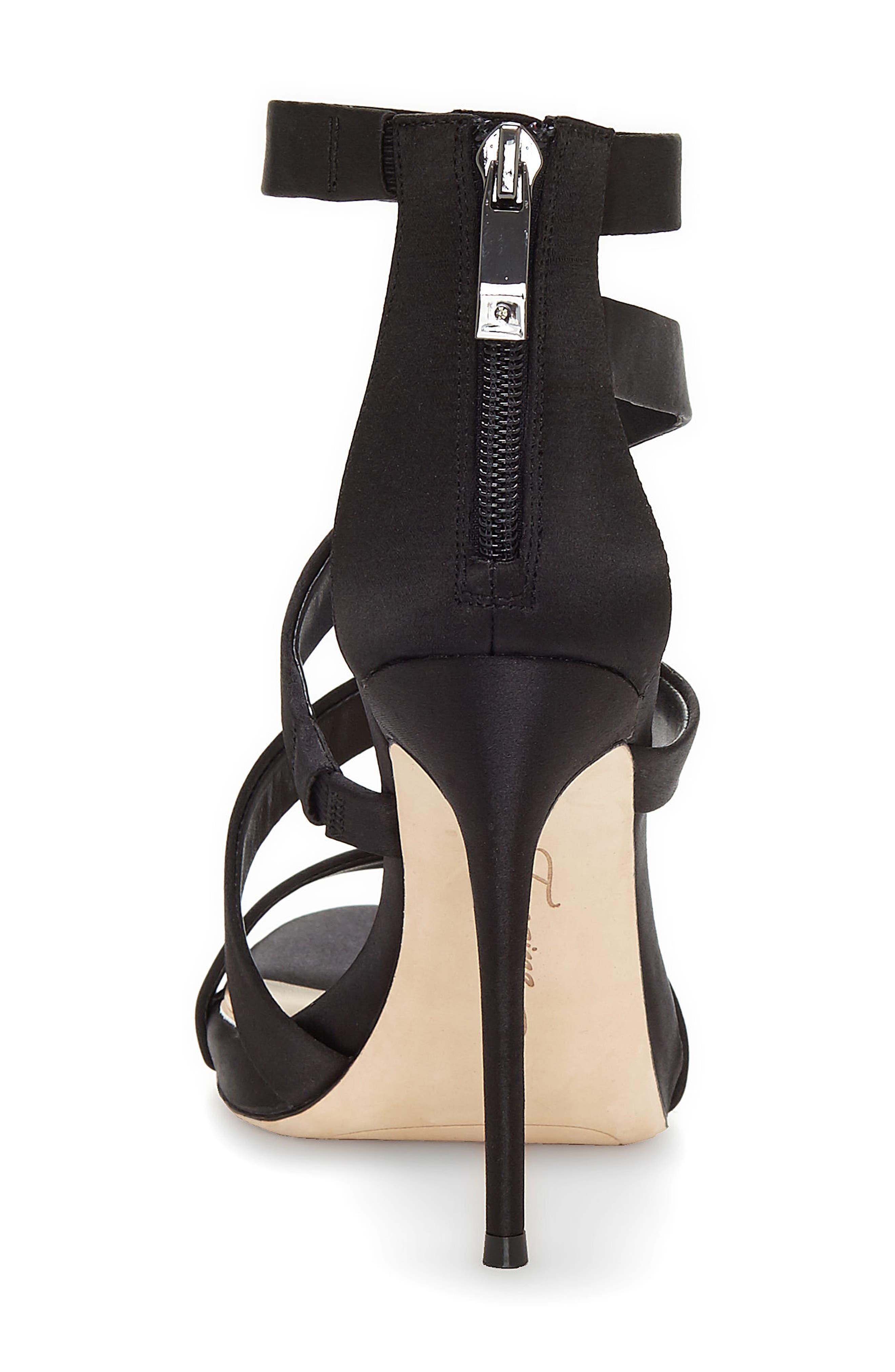 Imagine Vince Camuto Dalles Tall Strappy Sandal,                             Alternate thumbnail 7, color,                             BLACK SATIN