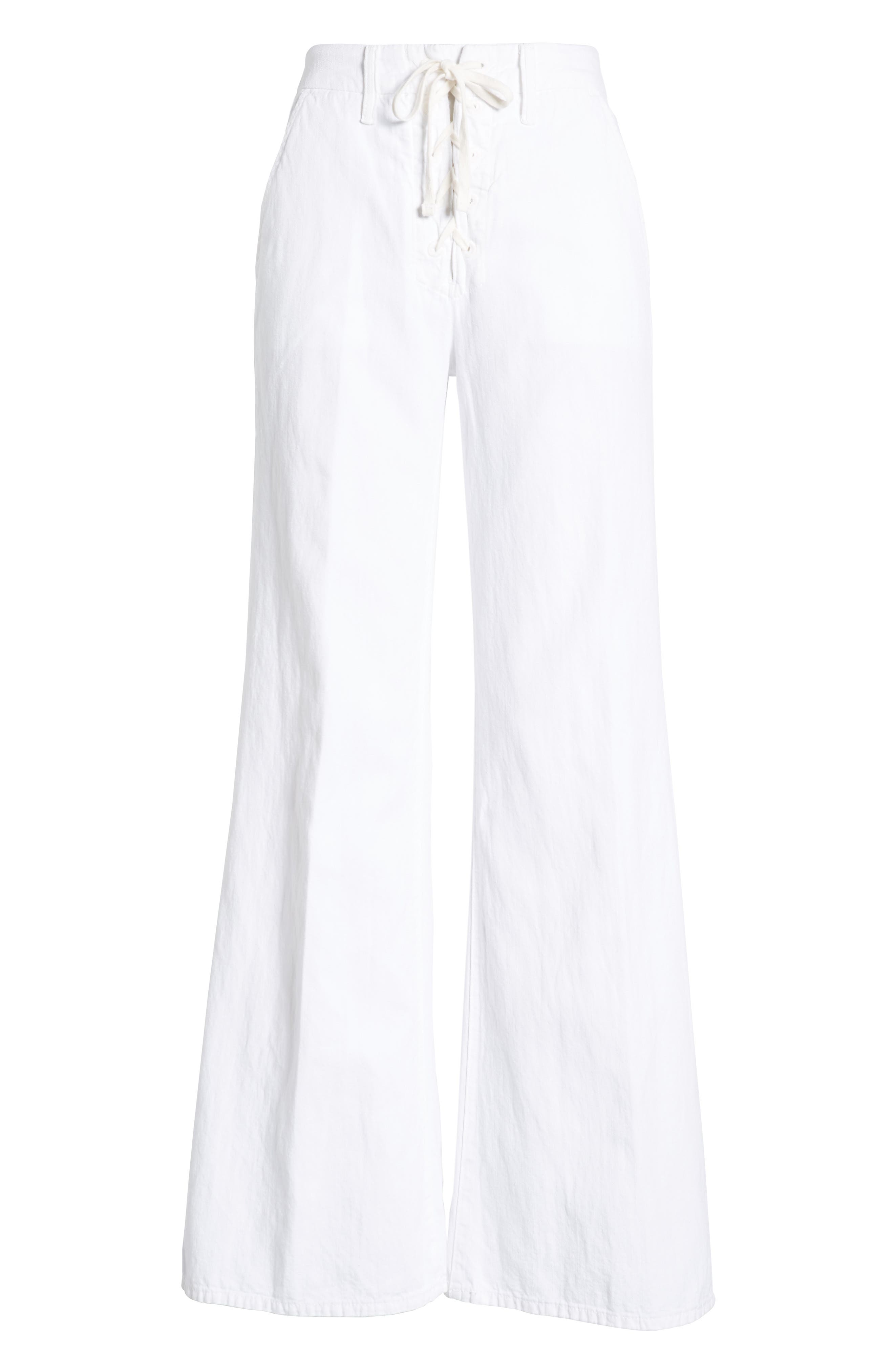 MOTHER,                             The Tie-Up Roller Wide Leg Twill Pants,                             Alternate thumbnail 7, color,                             RETURN TO THE ISLAND