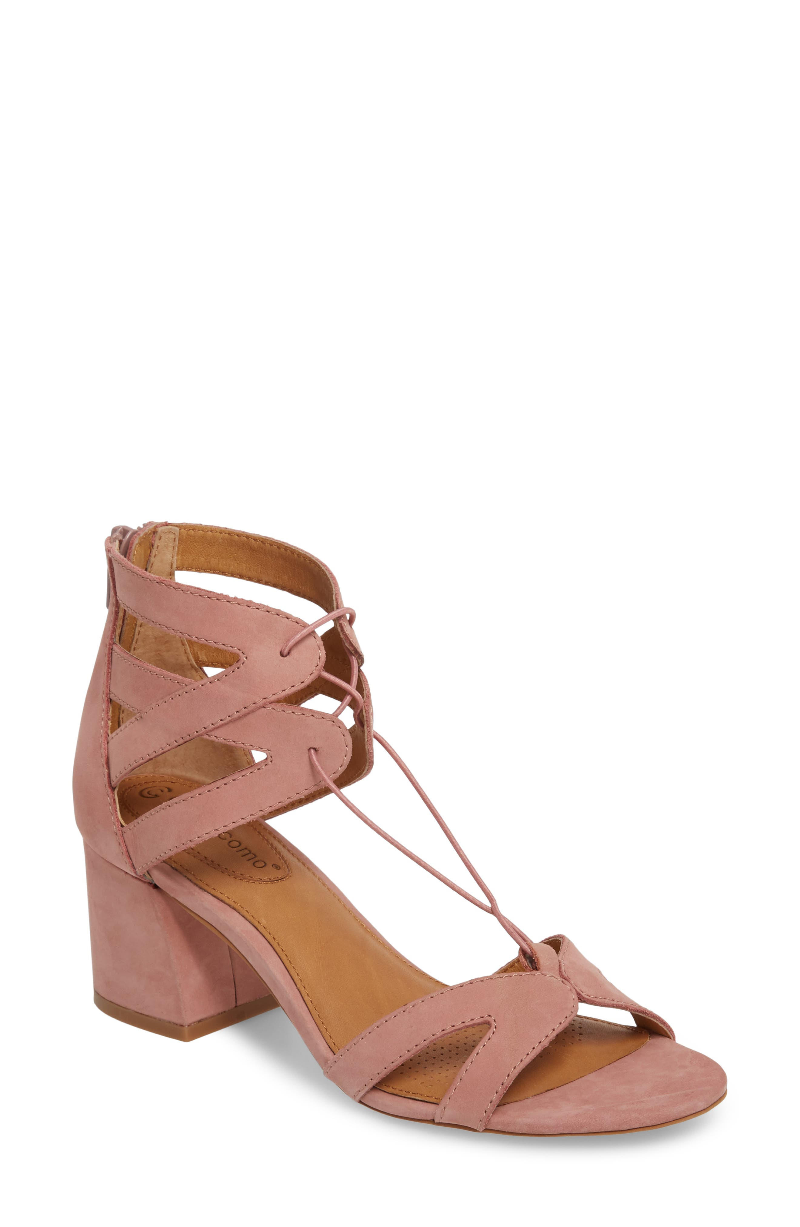 Lynne Sandal,                         Main,                         color, OLD ROSE LEATHER