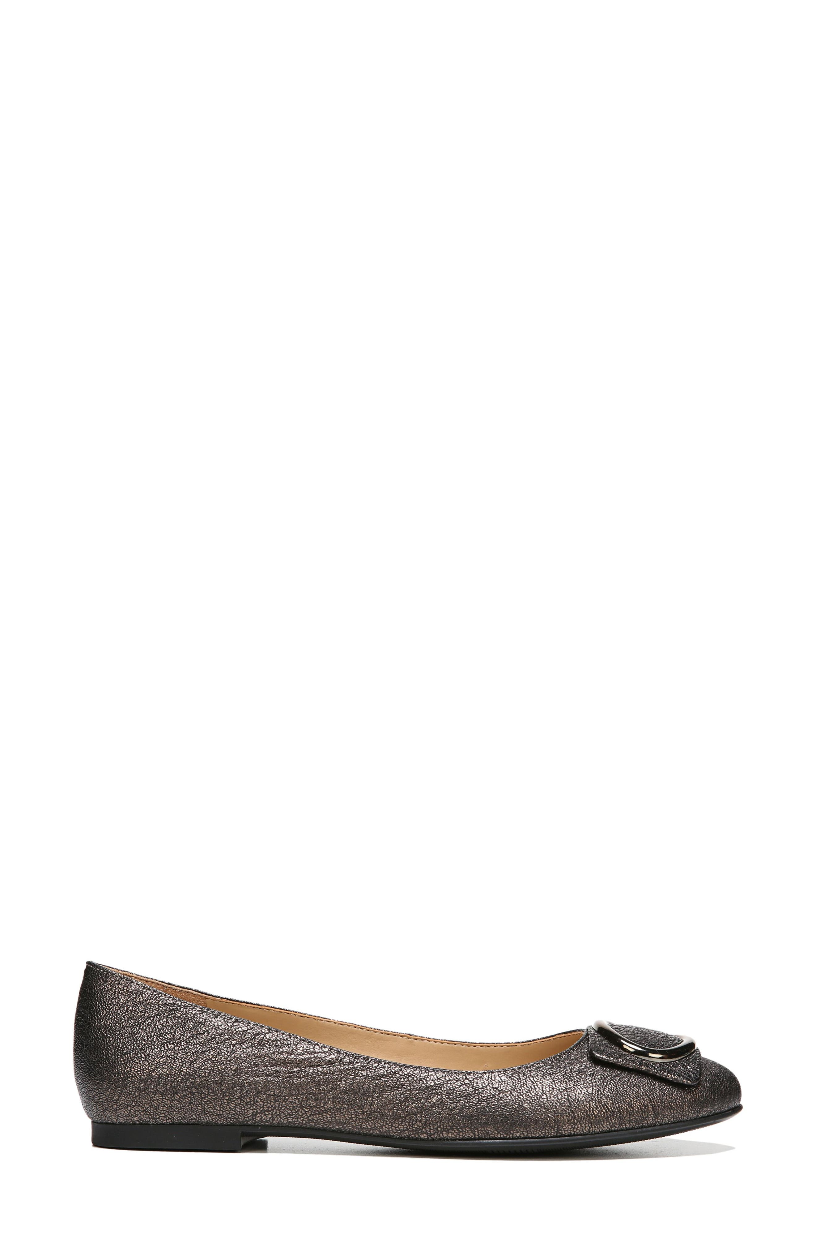 Geona Flat,                             Alternate thumbnail 3, color,                             BRONZE LEATHER