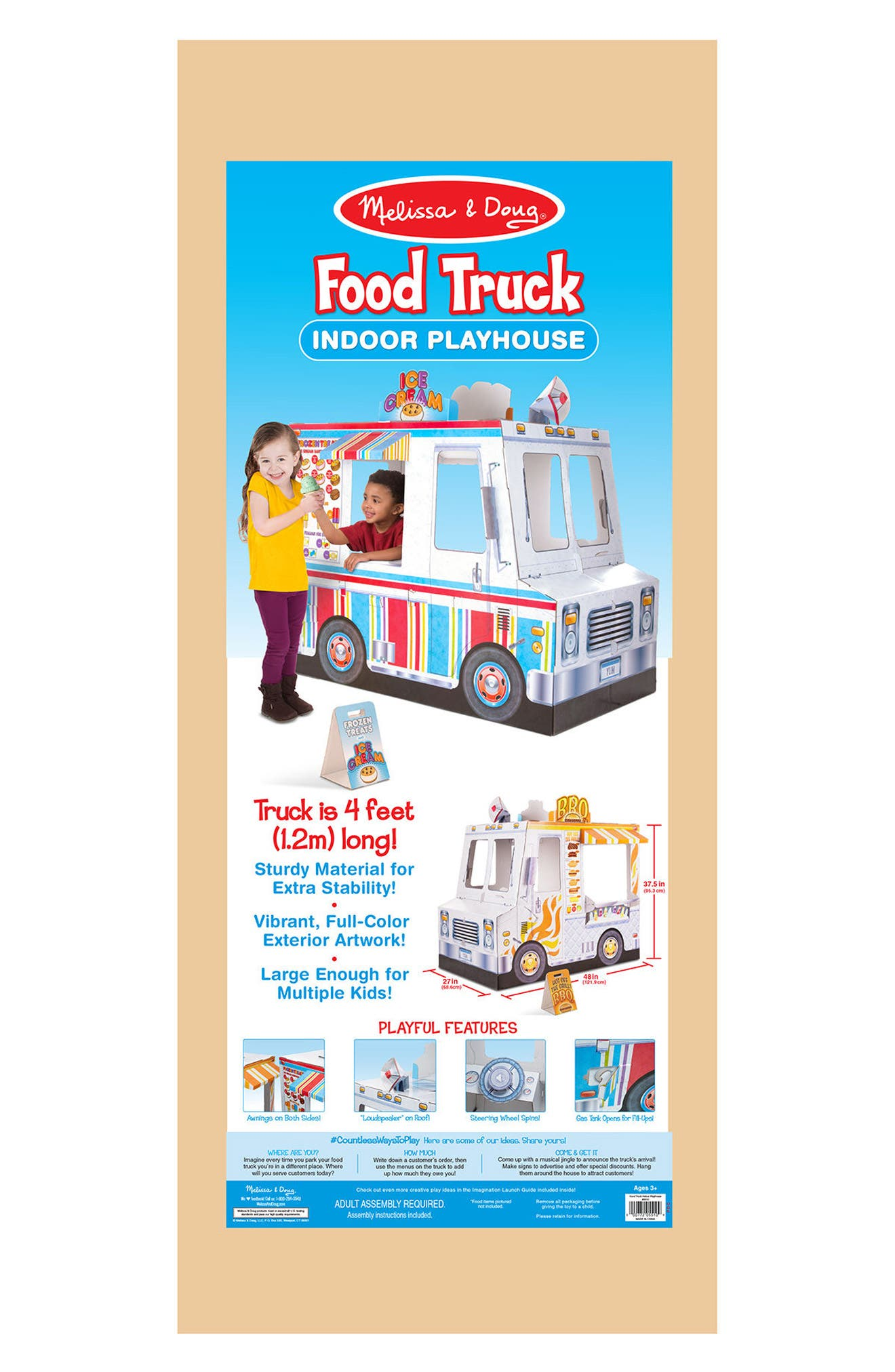 Ice Cream & Food Truck Indoor Playhouse,                             Alternate thumbnail 4, color,                             WHITE