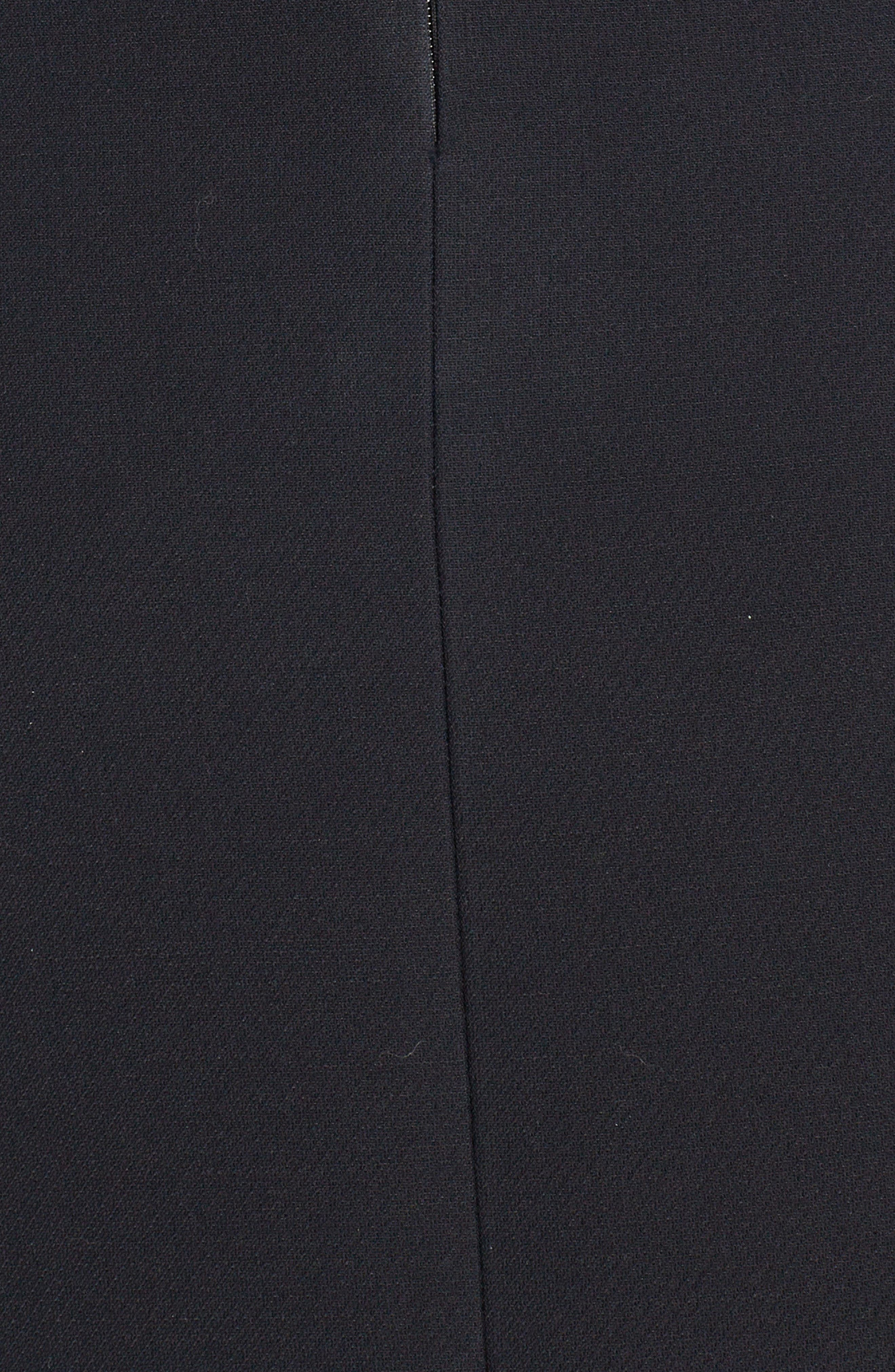 Wool & Silk Belted A-Line Skirt,                             Alternate thumbnail 5, color,                             001