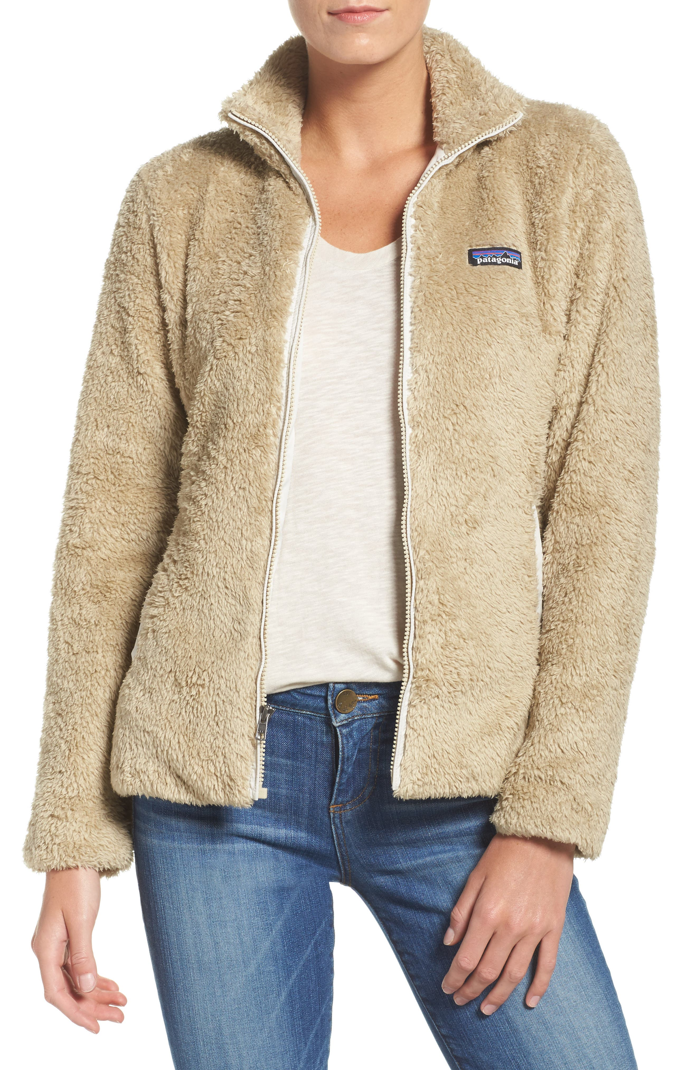 Los Gatos Fleece Jacket,                         Main,                         color, EL CAP KHAKI