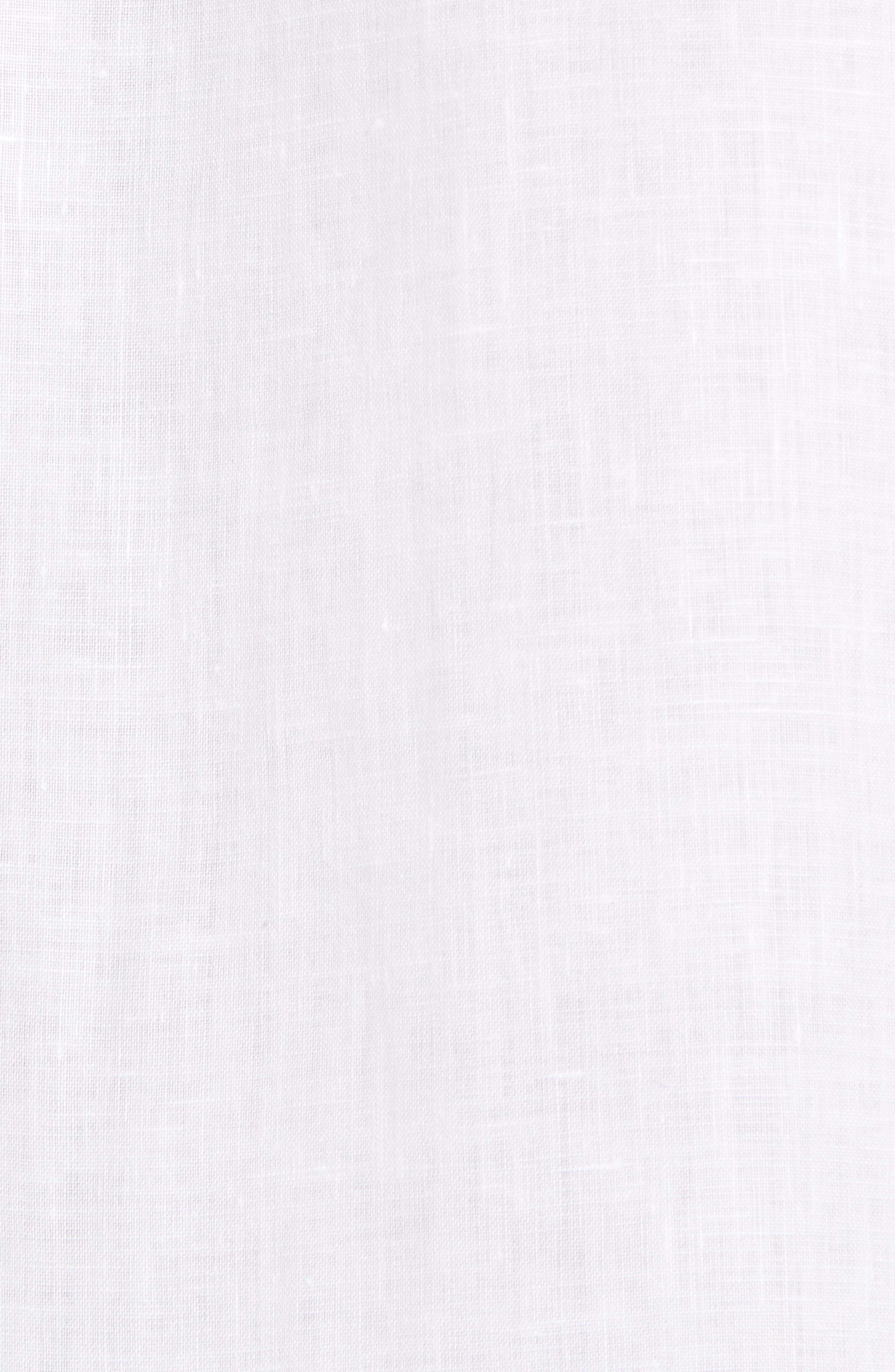 Yang Linen Sport Shirt,                             Alternate thumbnail 5, color,                             WHITE