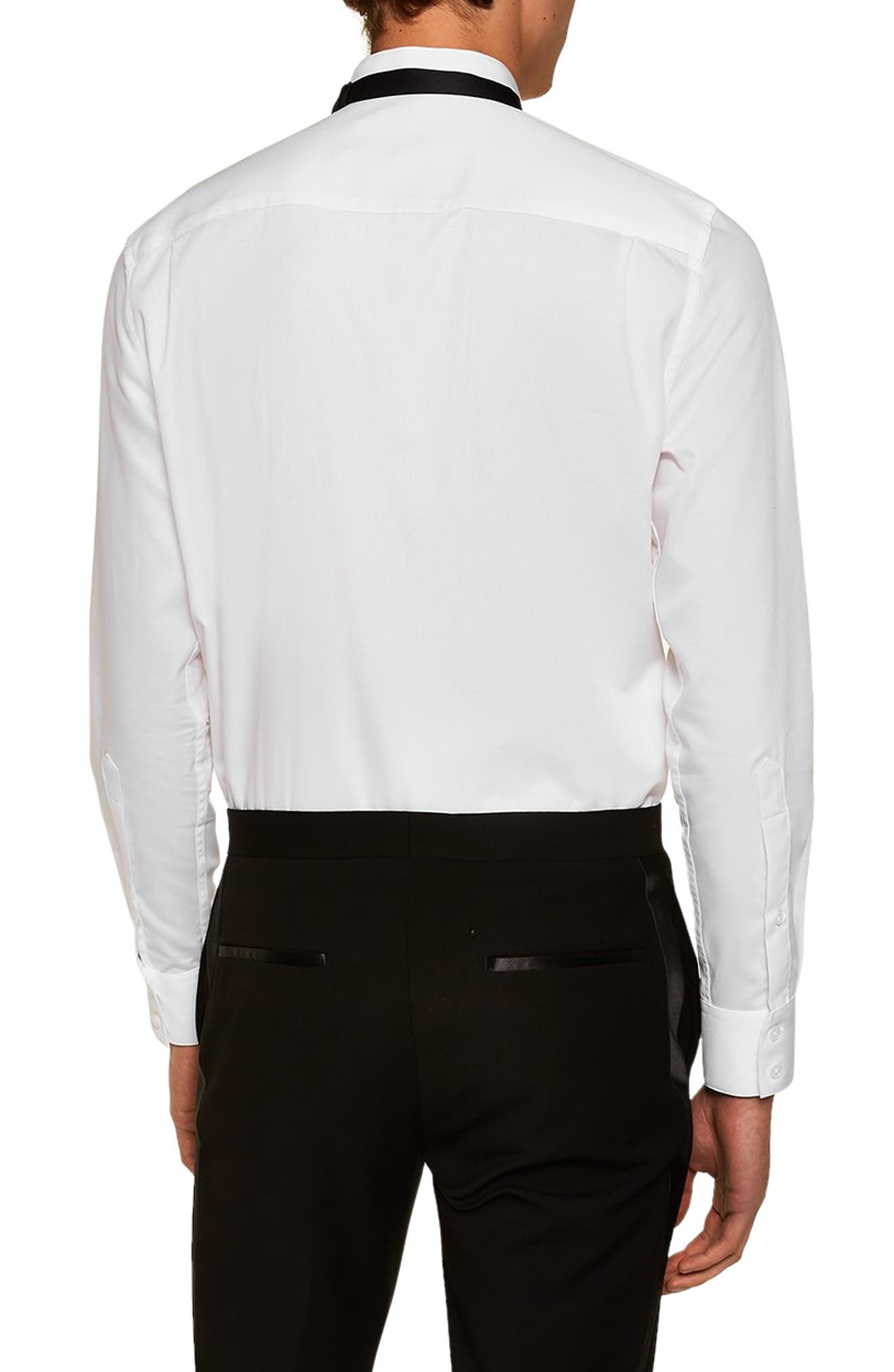 Wing Collar Classic Shirt,                             Alternate thumbnail 3, color,                             WHITE