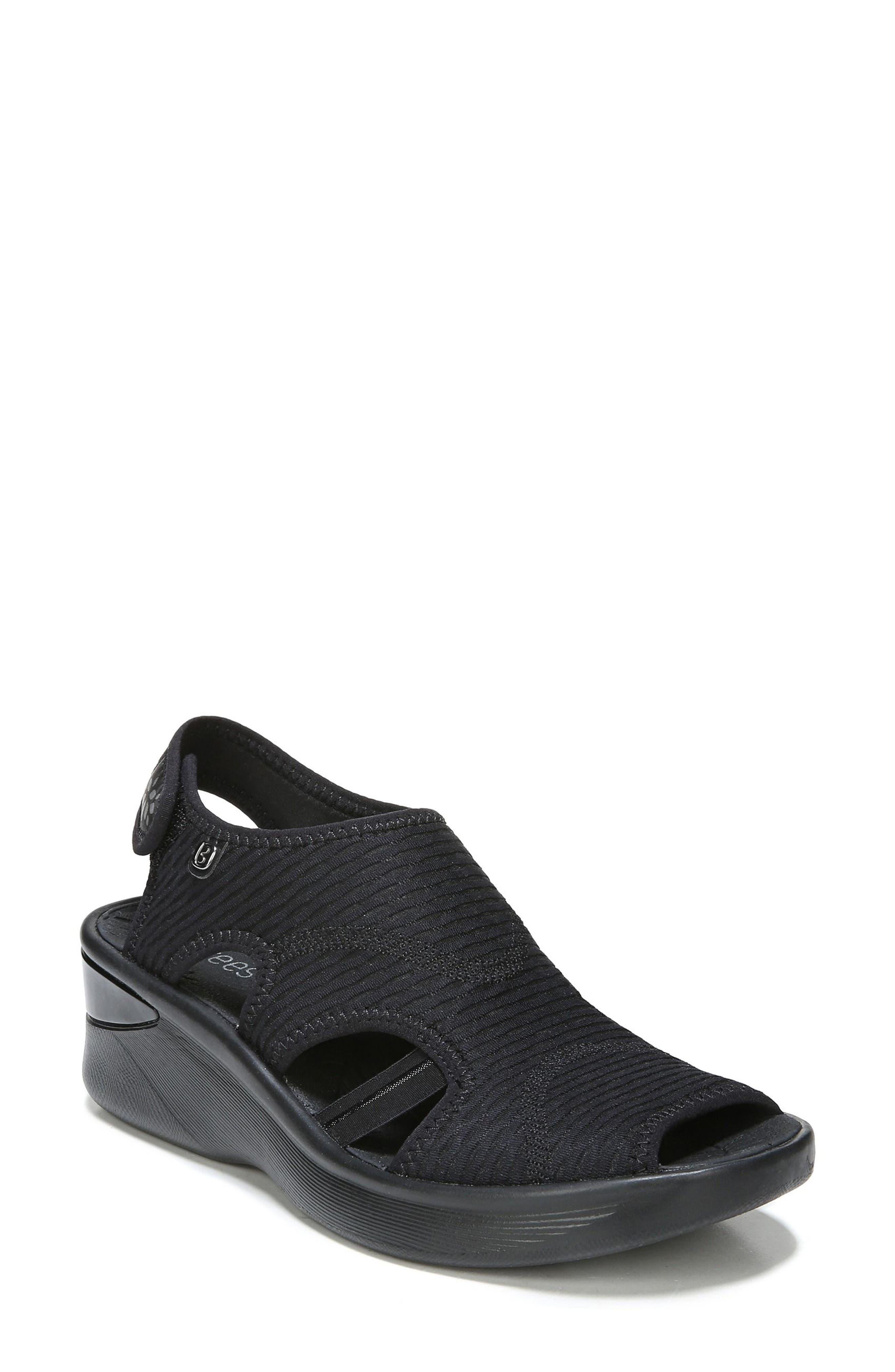 Spirit Sandal,                         Main,                         color, BLACK LEATHER