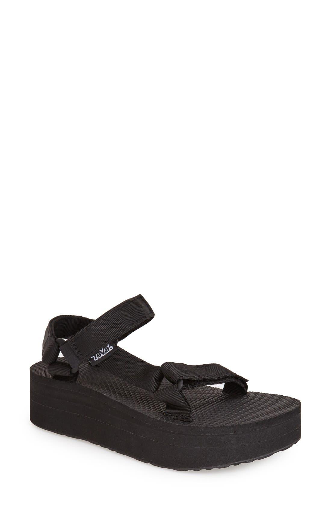 'Universal' Flatform Sandal,                         Main,                         color, 001