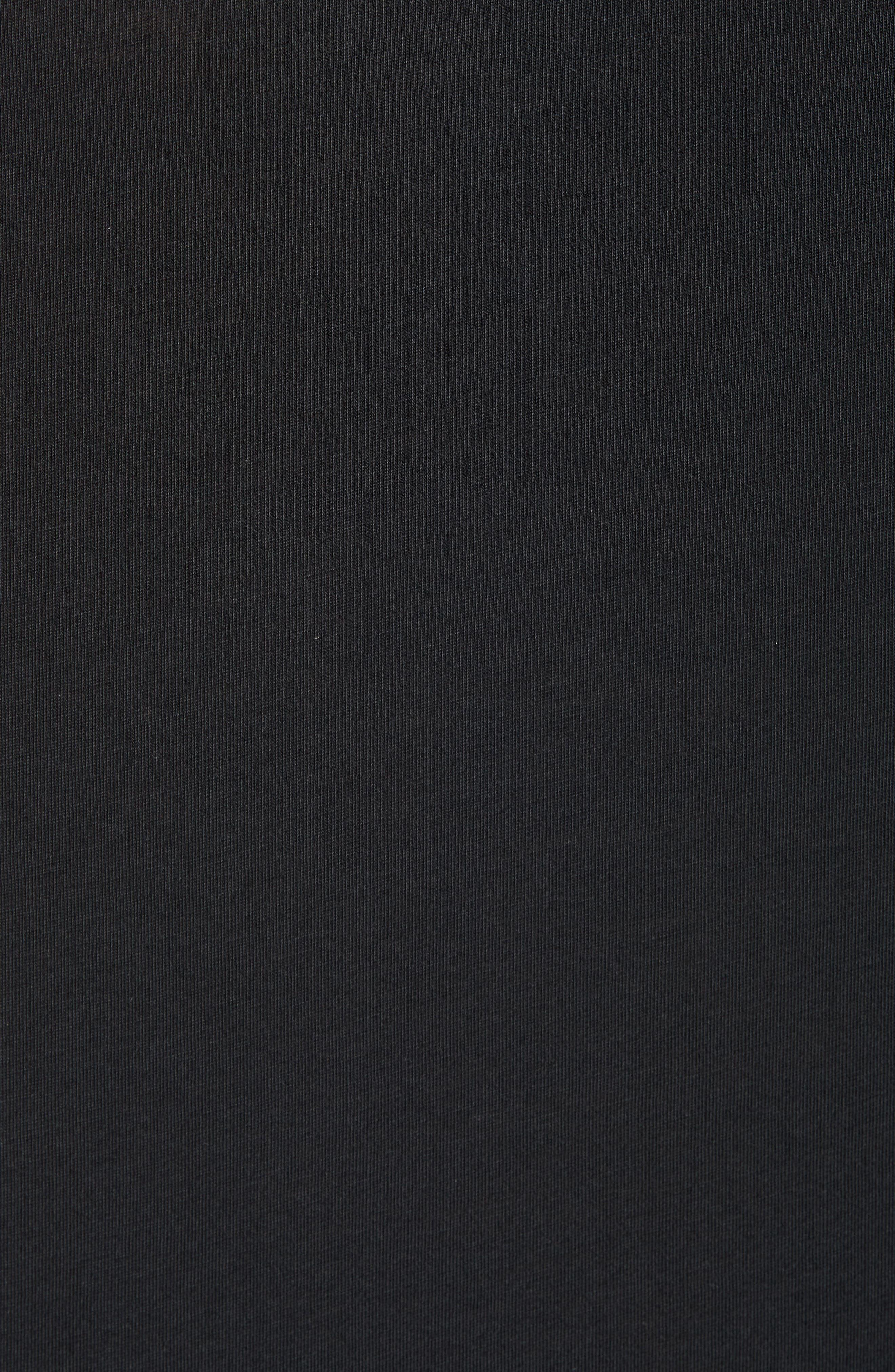 23 Alpha Dry Sleeveless Hoodie,                             Alternate thumbnail 5, color,                             BLACK/ WHITE