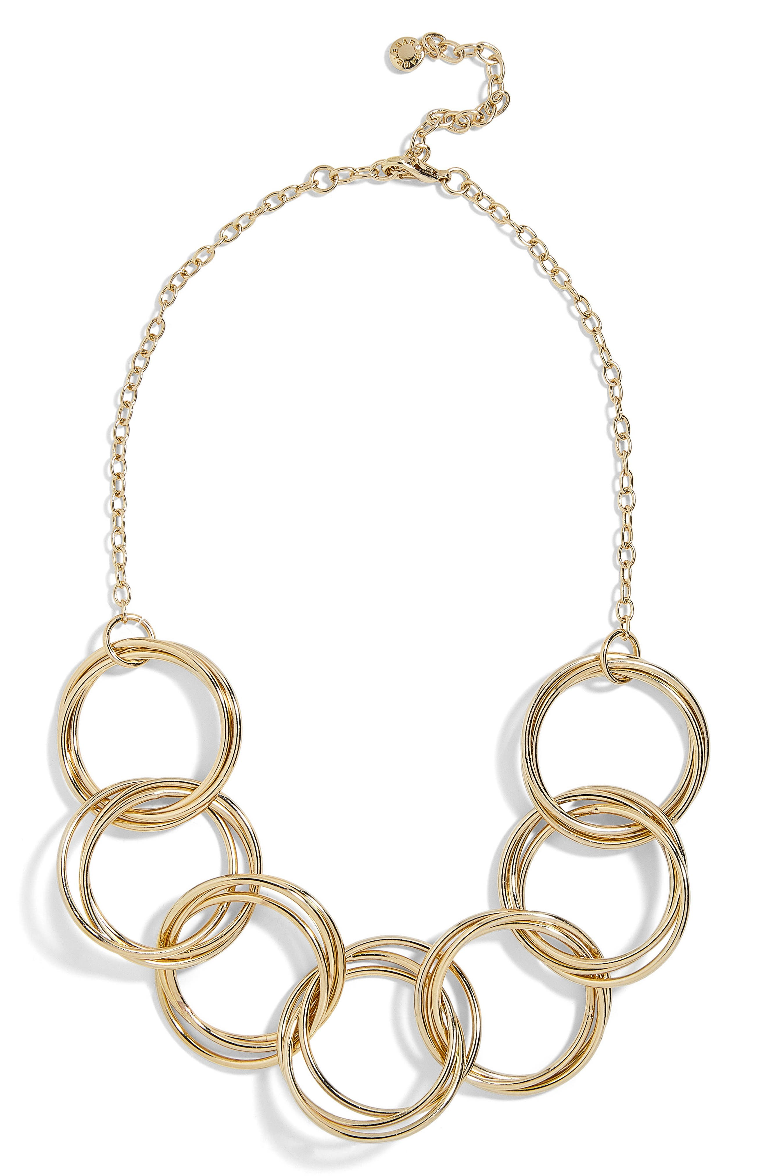 Romina Circle Link Statement Necklace,                         Main,                         color, 710
