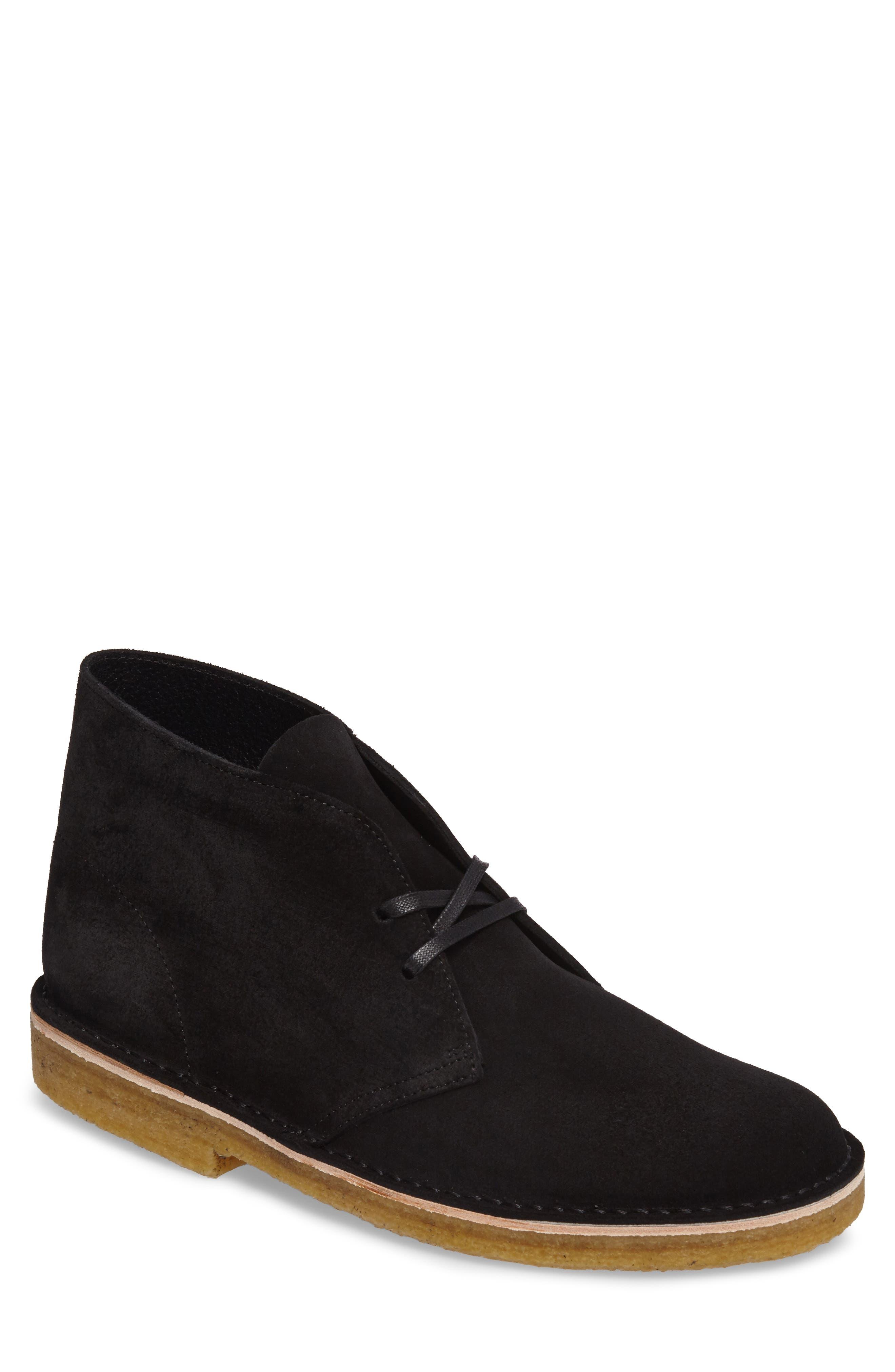 Desert Chukka Boot,                         Main,                         color, BLACK SUEDE