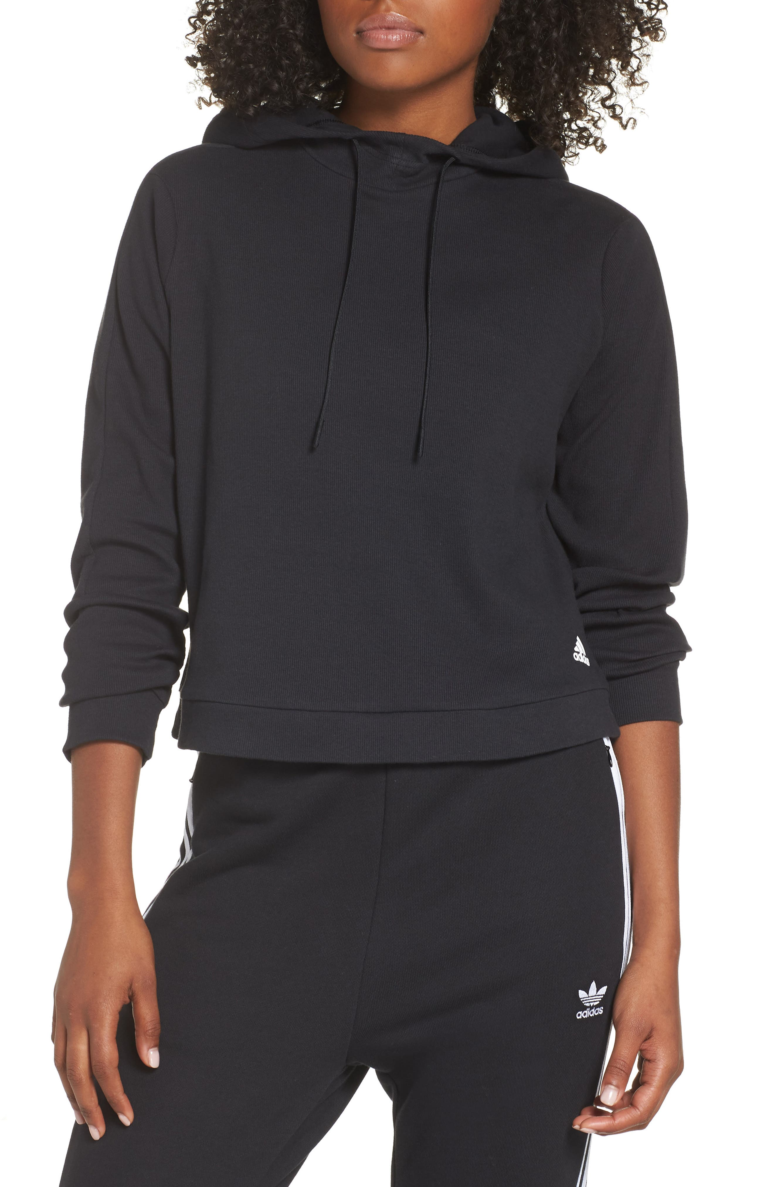 Adidas Id Q4 High/low Pullover Hoodie, Black