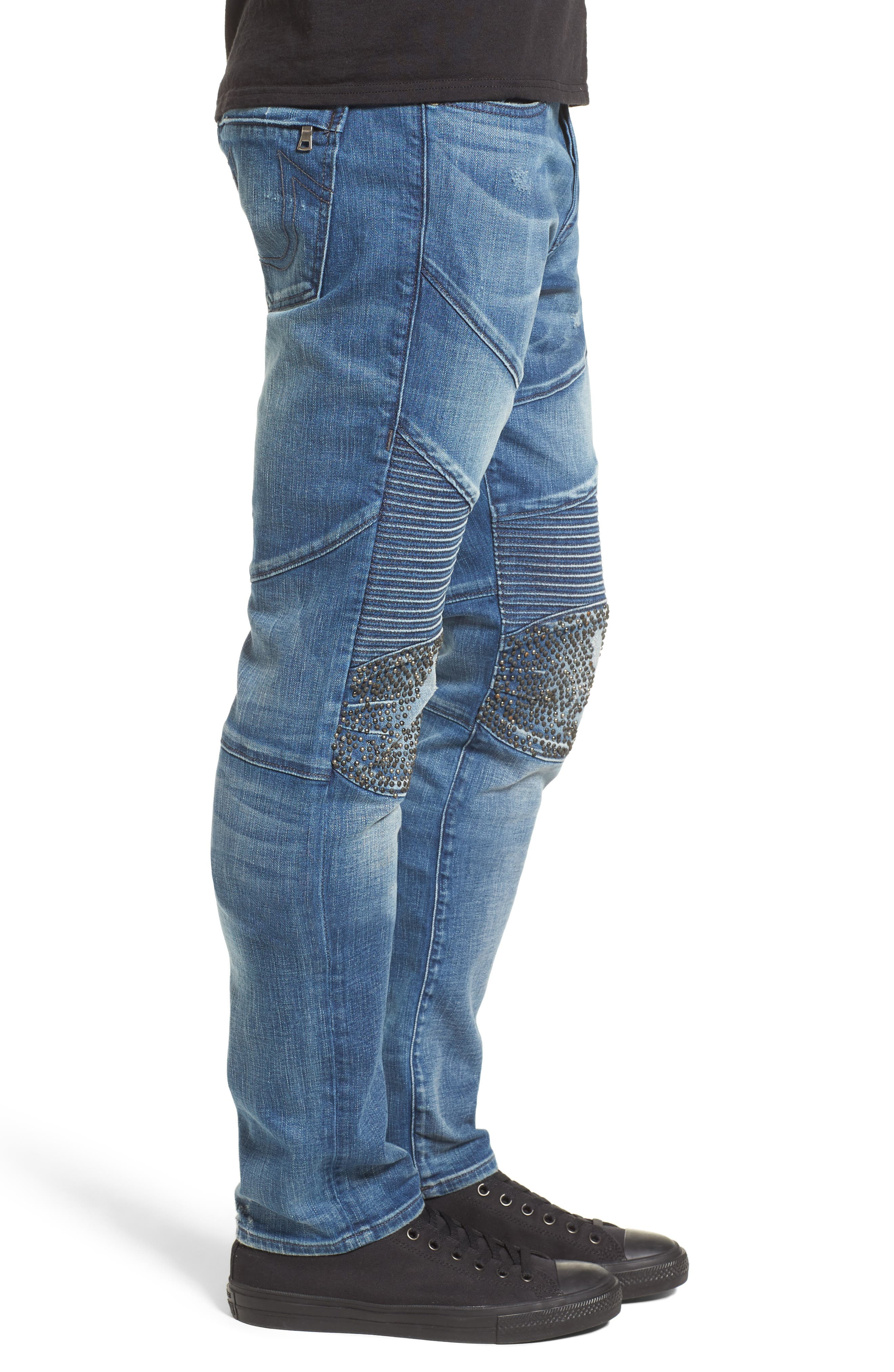 TRUE RELIGION BRAND JEANS,                             Rocco Skinny Fit Jeans,                             Alternate thumbnail 3, color,                             ENDLESS ROAD