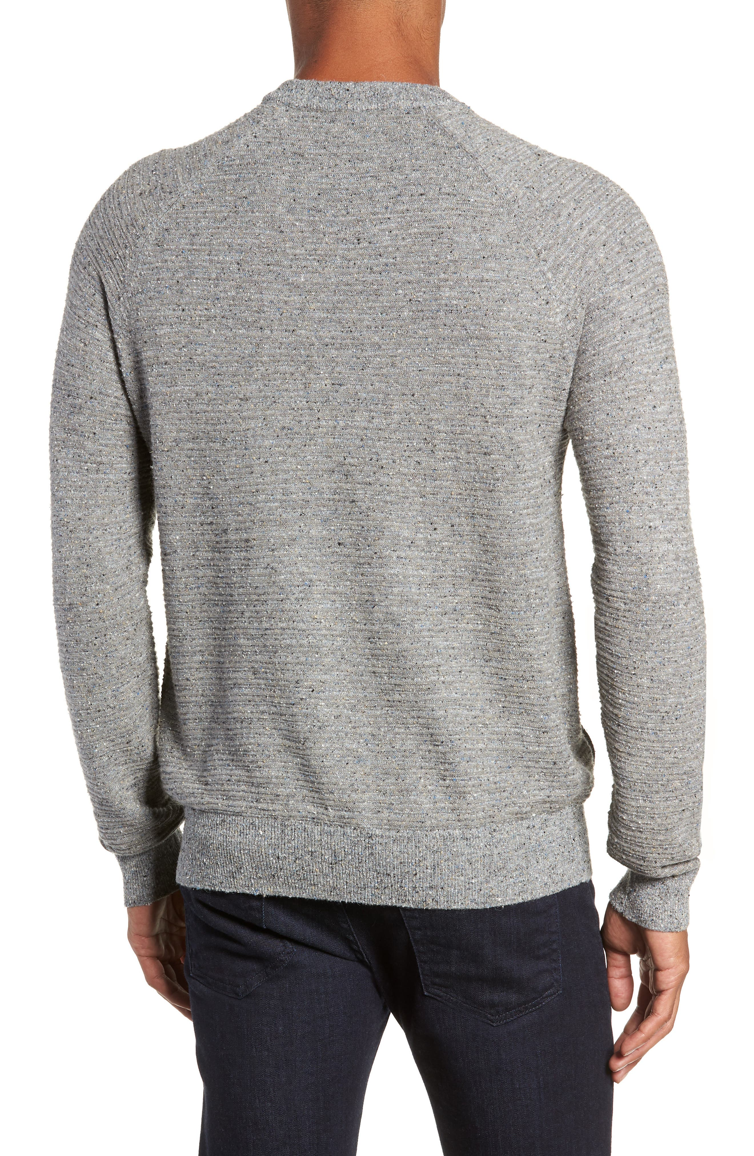 Speckle Stripe Sweater,                             Alternate thumbnail 2, color,                             GREY MIX