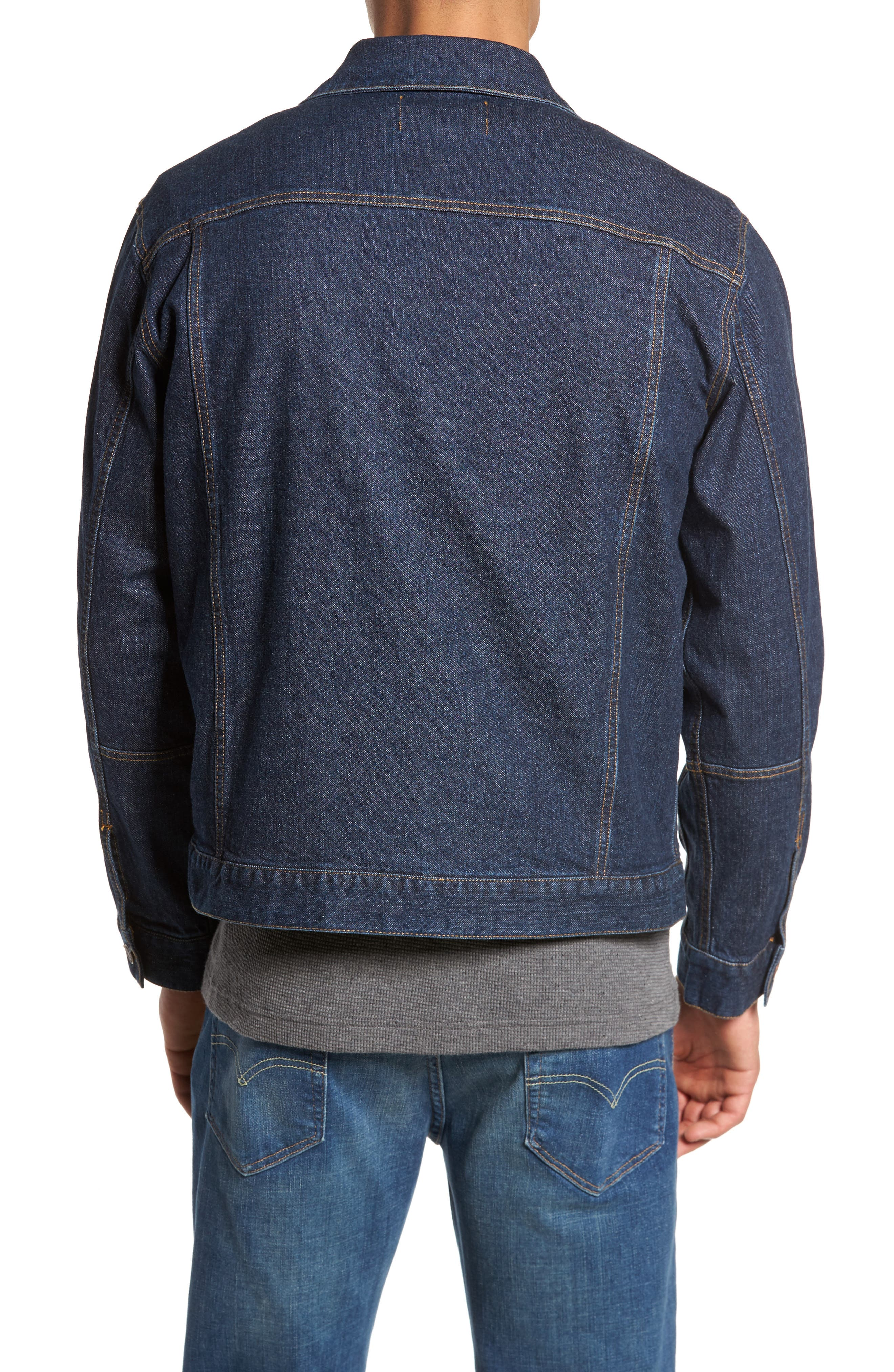 Denim Jacket with Removable Wool Vest,                             Alternate thumbnail 2, color,                             415