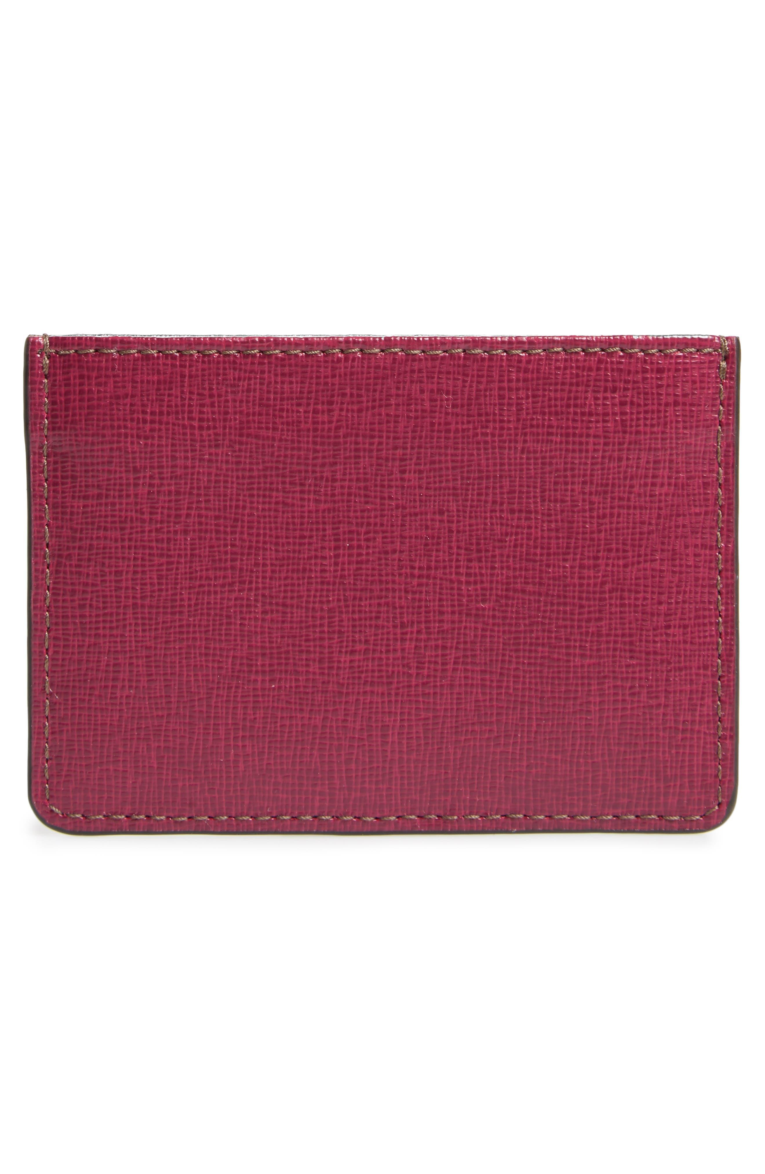 Gioia Saffiano Leather Card Case,                             Alternate thumbnail 6, color,